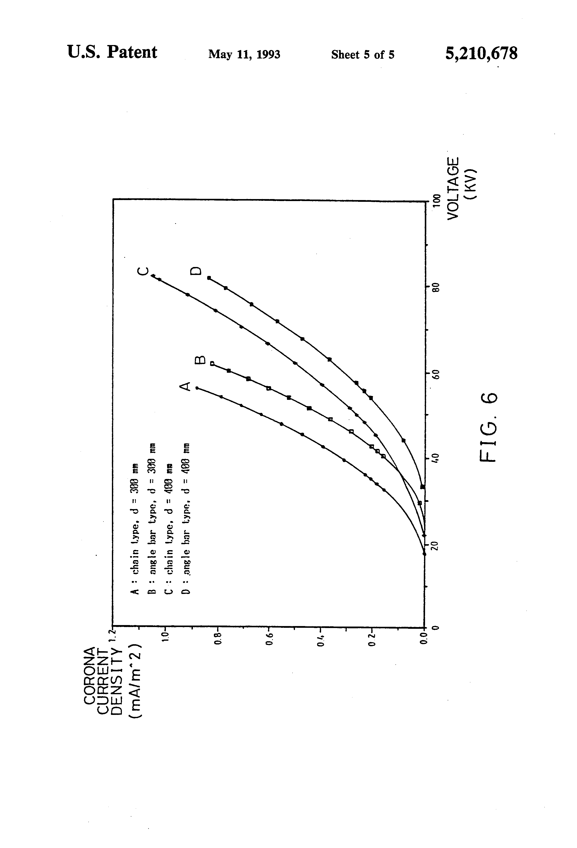 patent us5210678 - chain-type discharge wire for use in an electrostatic precipitator
