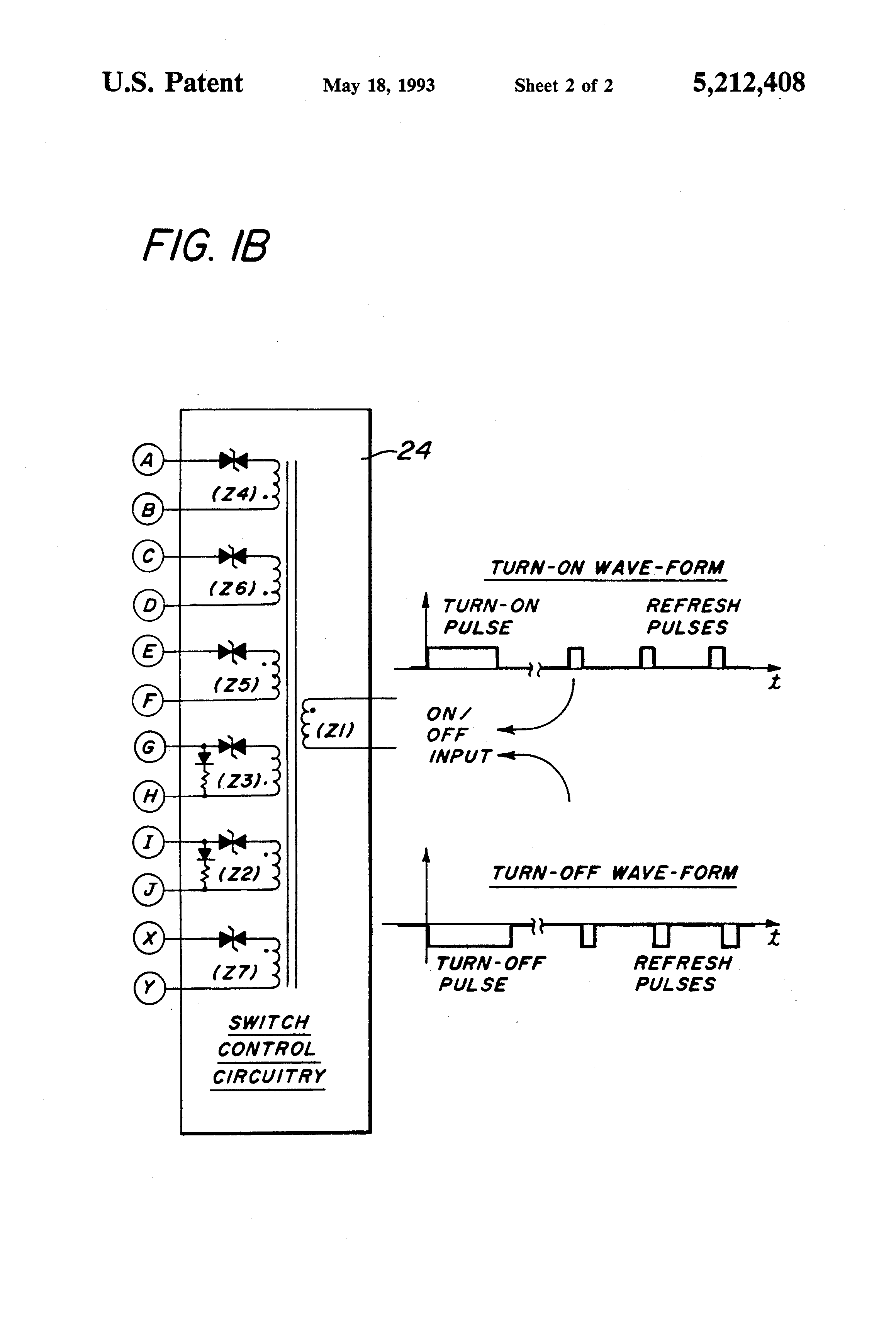 Brevet Us5212408 Ultra Fast Pin Diode Switch Google Brevets Rf Types Using Diodes Patent Drawing