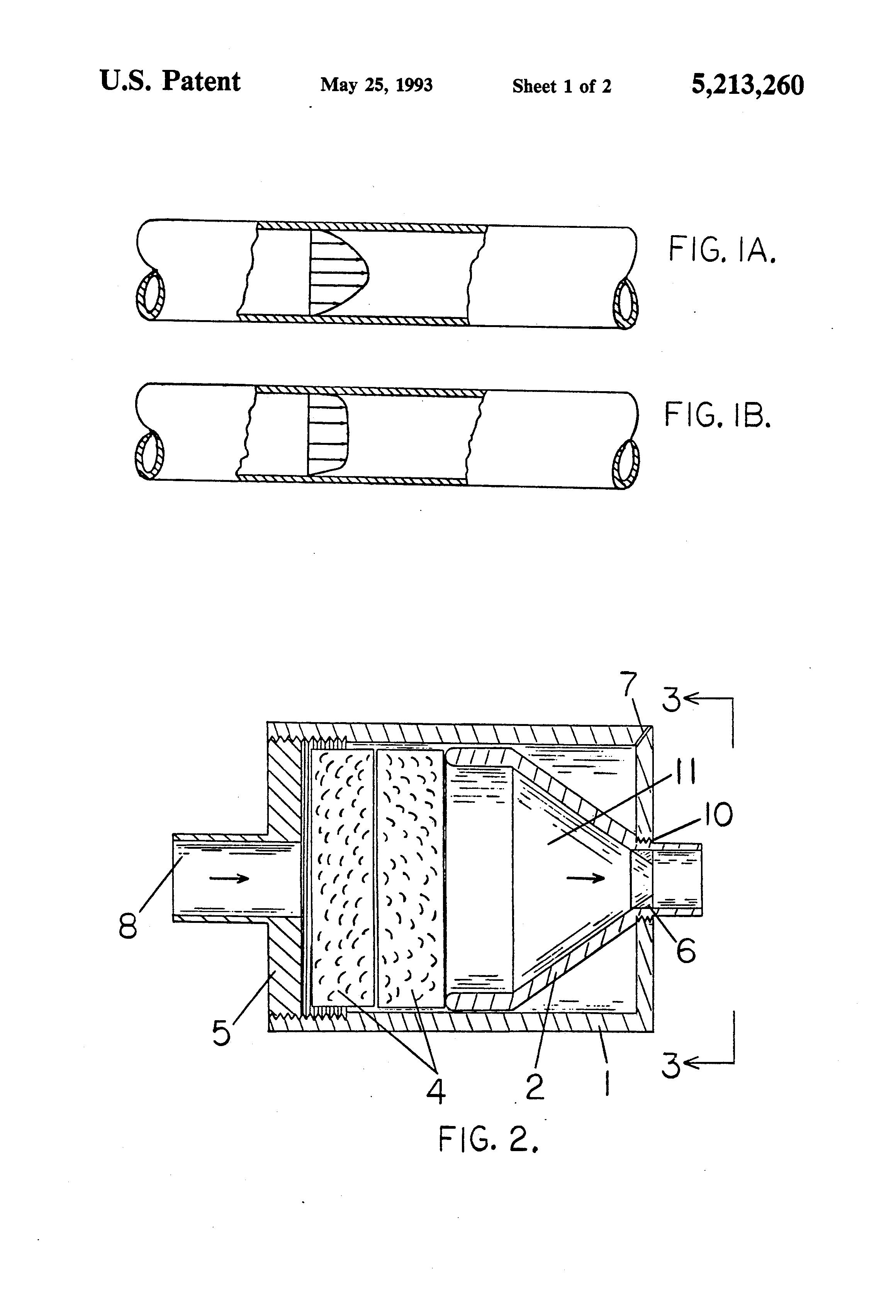 Patent us nozzle for producing laminar flow