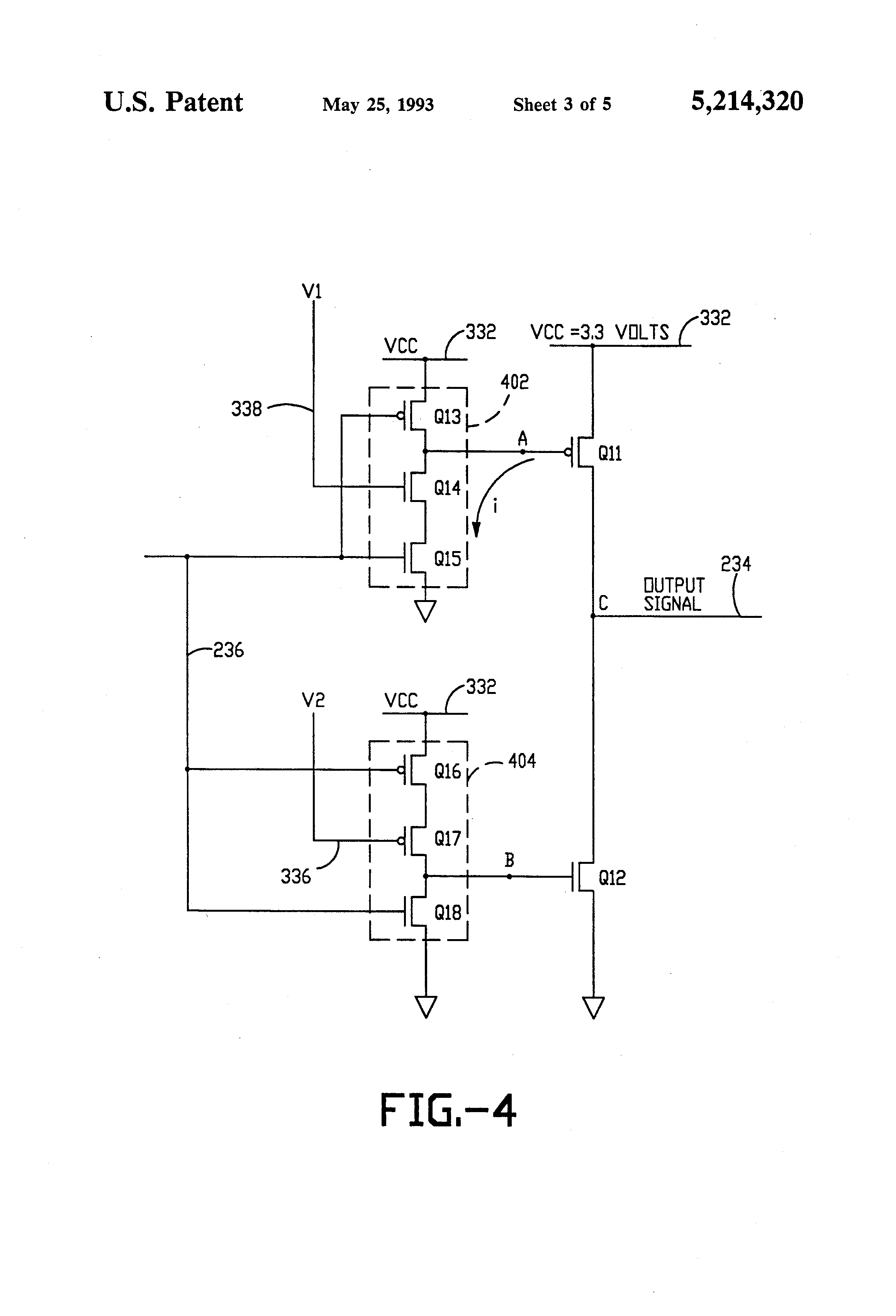 Patent Us5214320 System And Method For Reducing Ground Bounce In The Time Delay Circuit With A Fet Controlcircuit Diagram Drawing