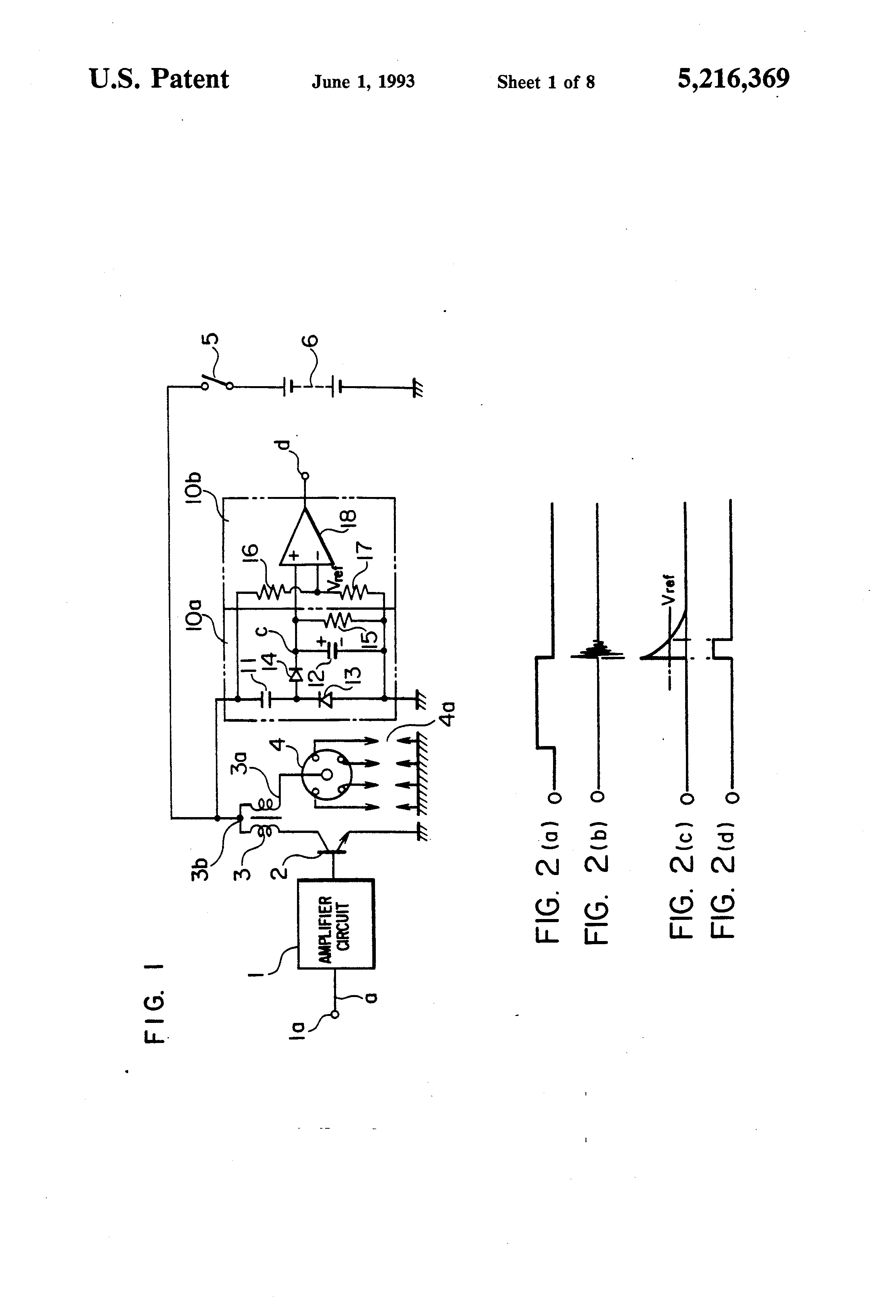 Patent Us5216369 Ignition Occurrence Detecting Device For Use In Fig 1 Basic Accoupling Circuit Drawing