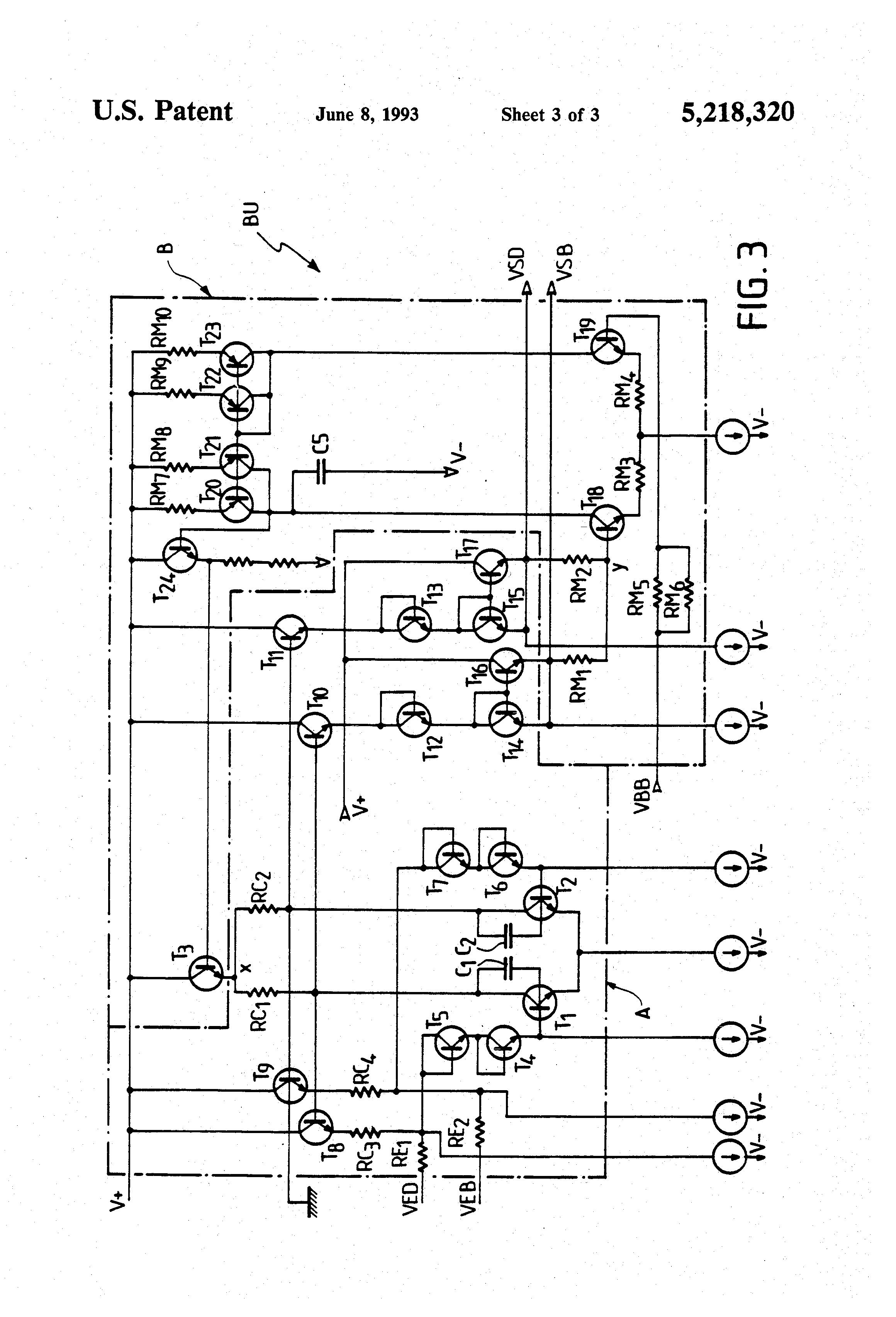 Patent Us5218320 Wideband Amplifier Circuit Having