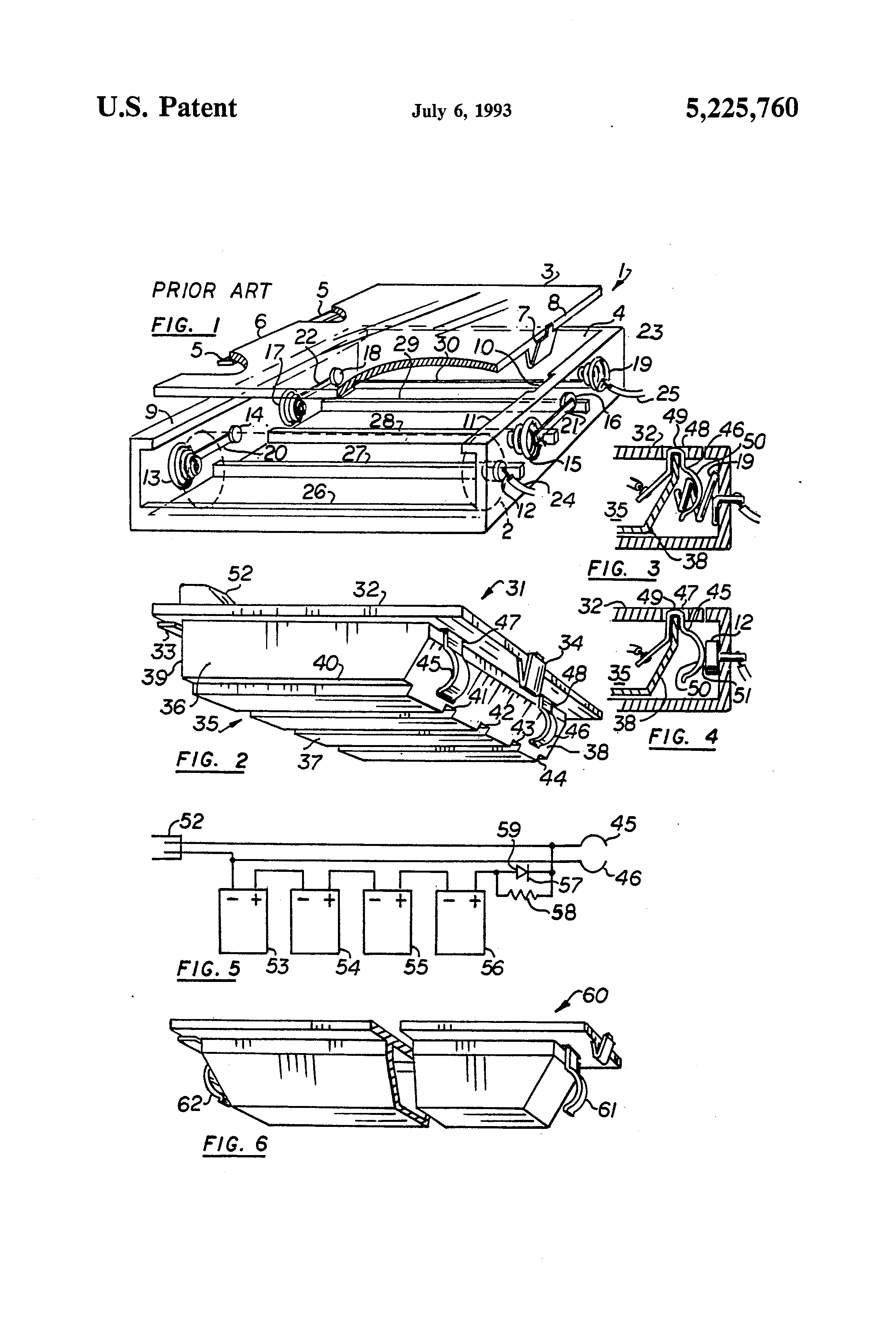 patent us5225760 - rechargeable power pack