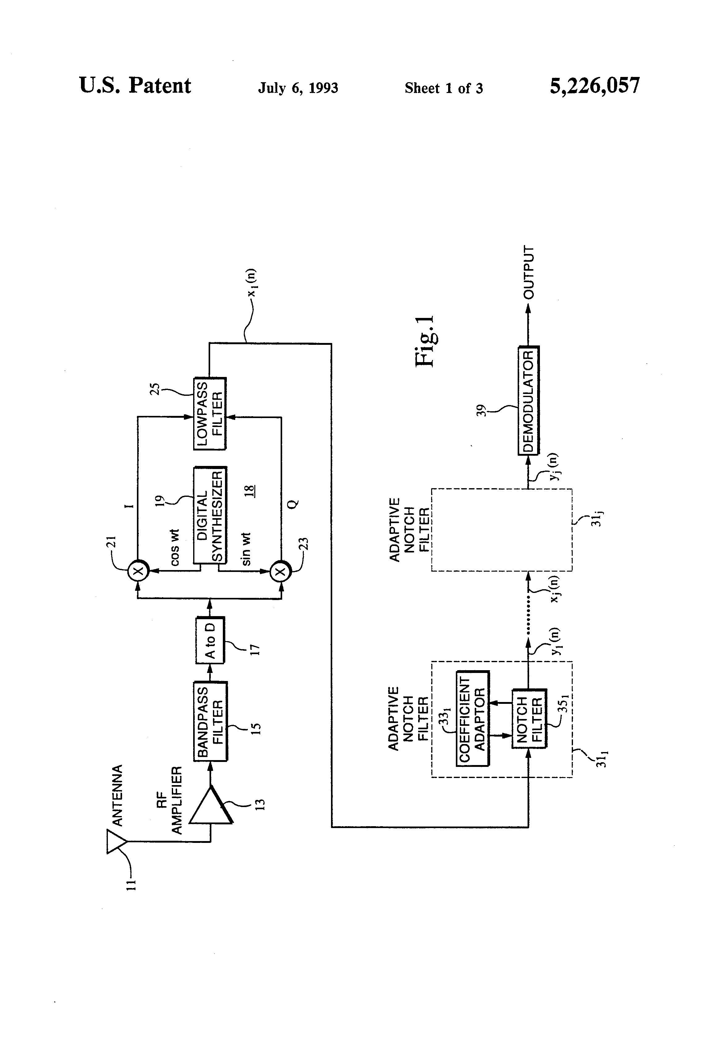 Patent Us5226057 Receiver And Adaptive Digital Notch