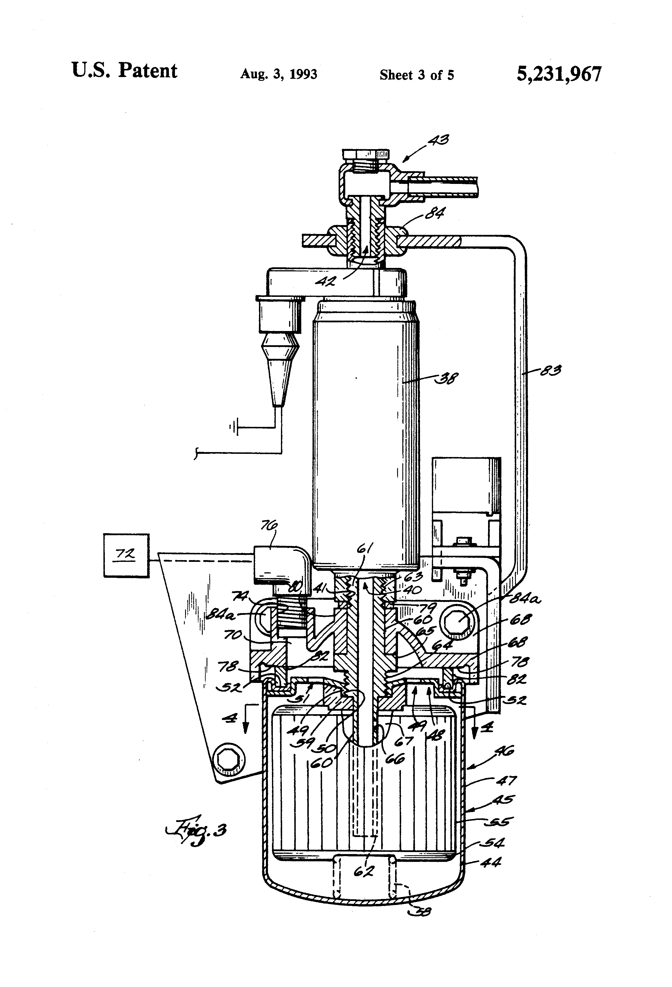 patent us5231967 - fuel pump and fuel filter for a marine installation