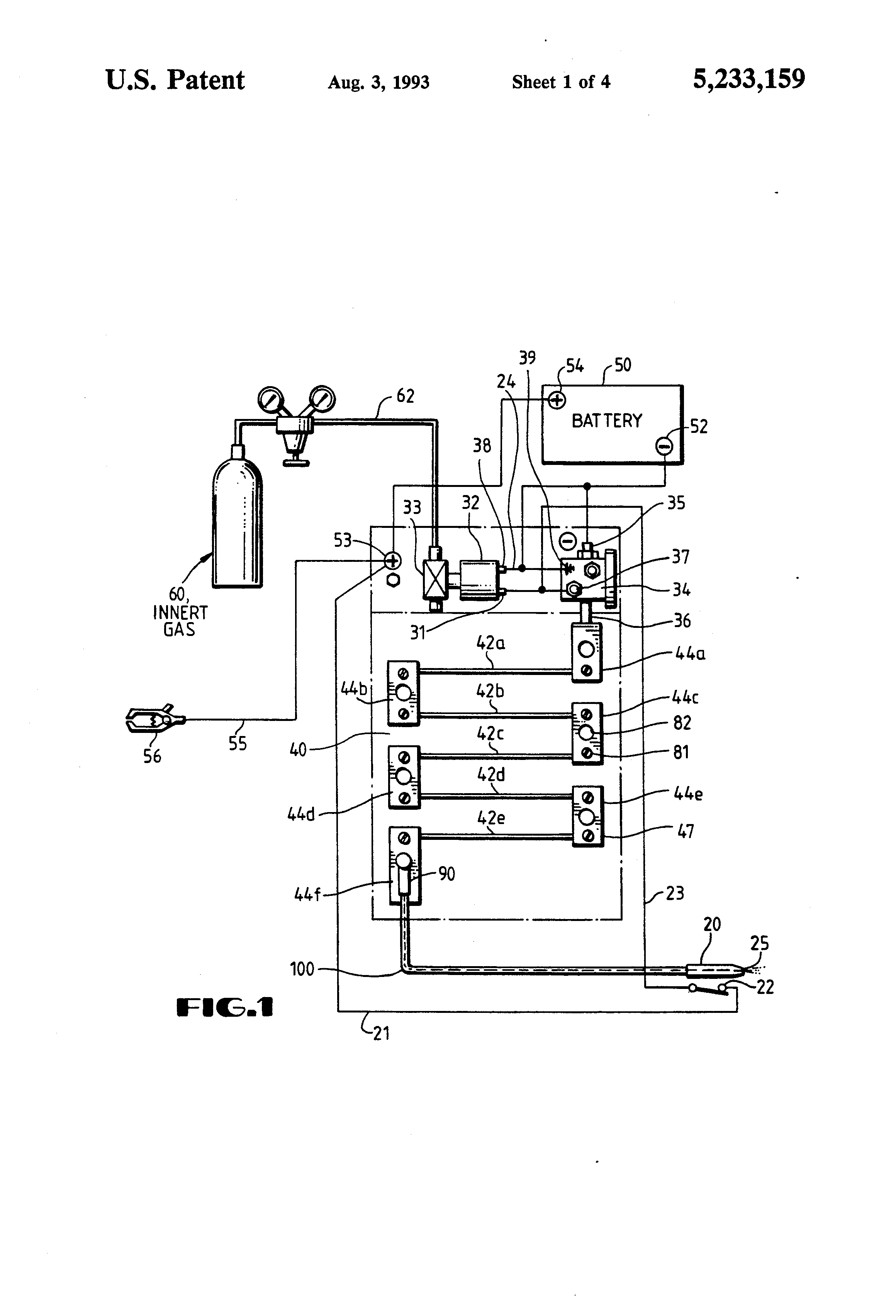 Patent Us5233159 Direct Current Welding System Google Patents Gas Diagram Drawing