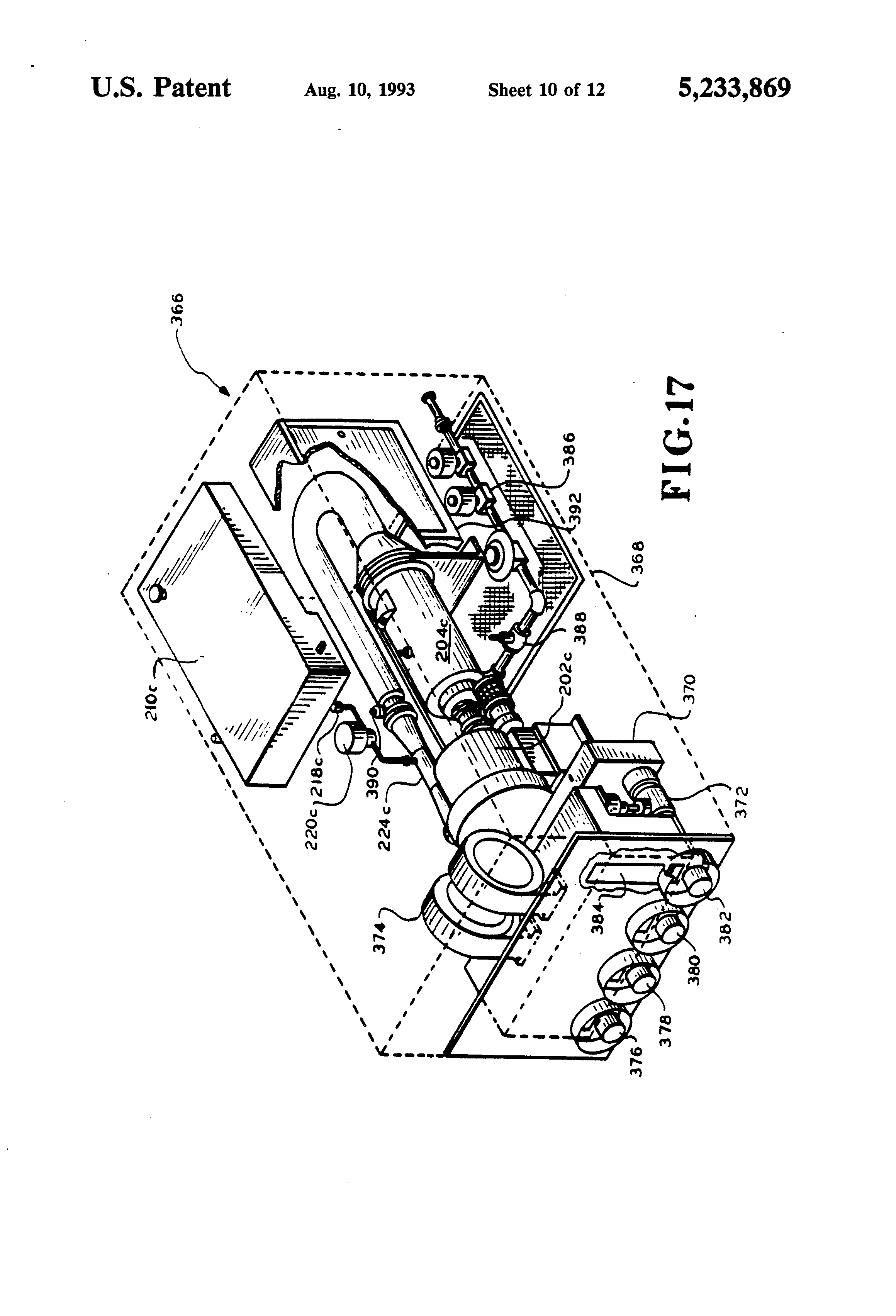 Patent US5233869 - Fire fighting trainer and apparatus