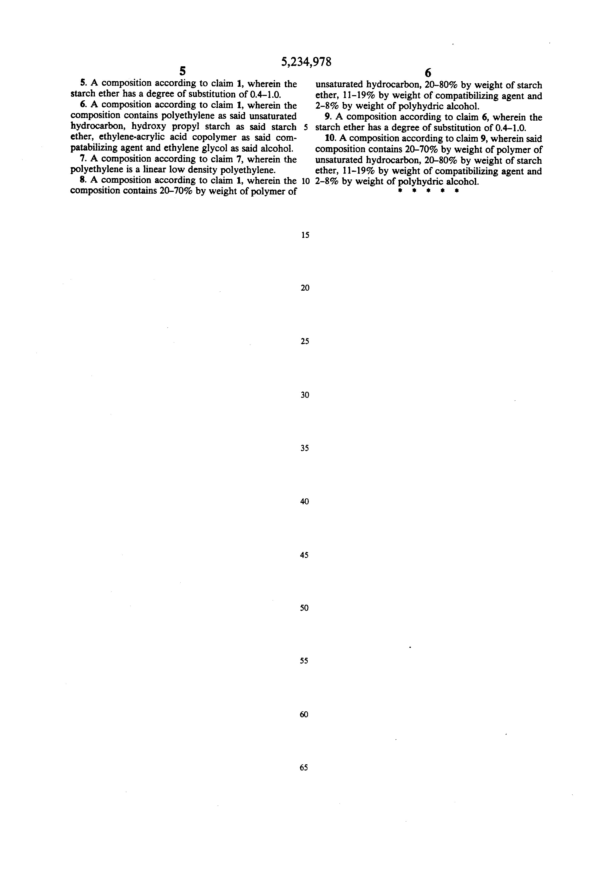 Patent Us5234978 Composition Containing A Polymer Of