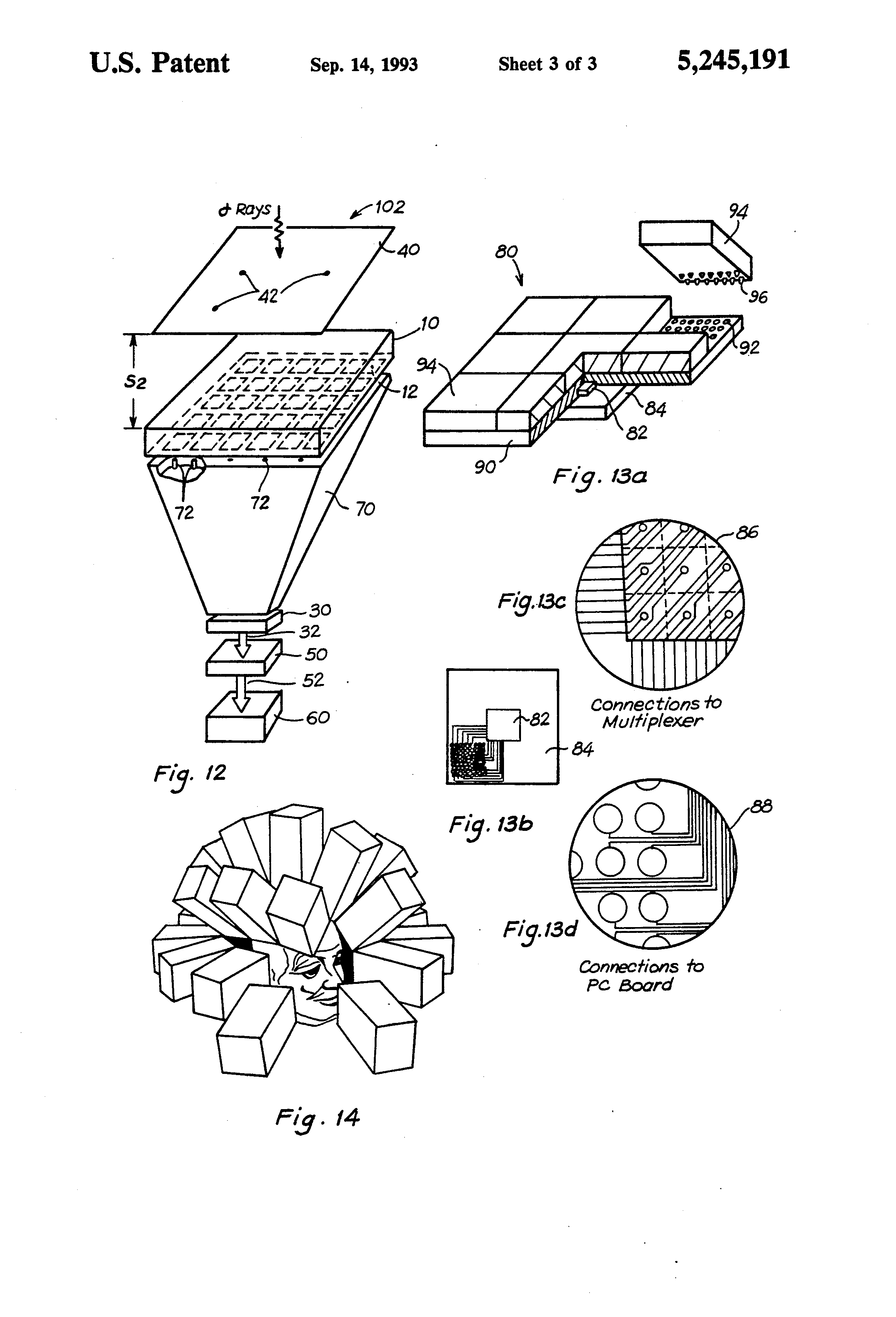 patent us5245191 - semiconductor sensor for gamma-ray tomographic imaging system
