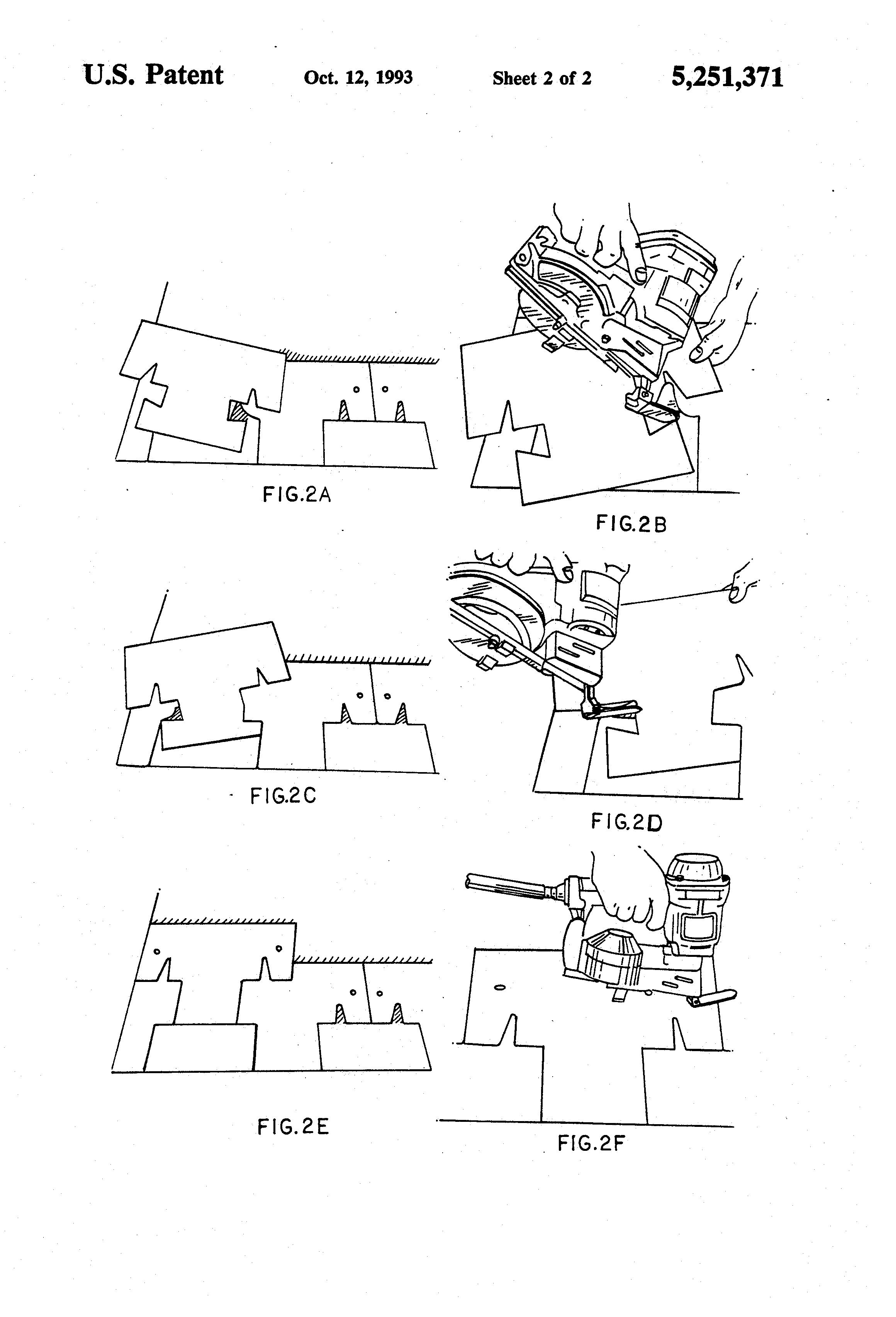 Patent Us5251371 T Lock Shingle Attachment For Pneumatic