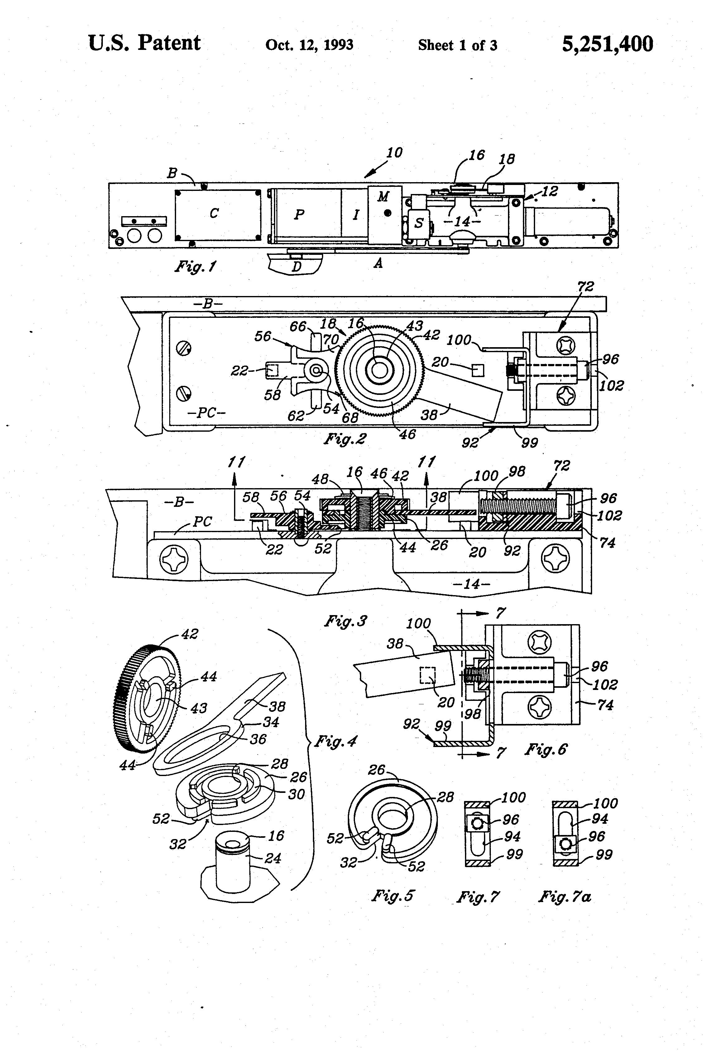 Patent Us5251400 Control For A Door Closer Having A