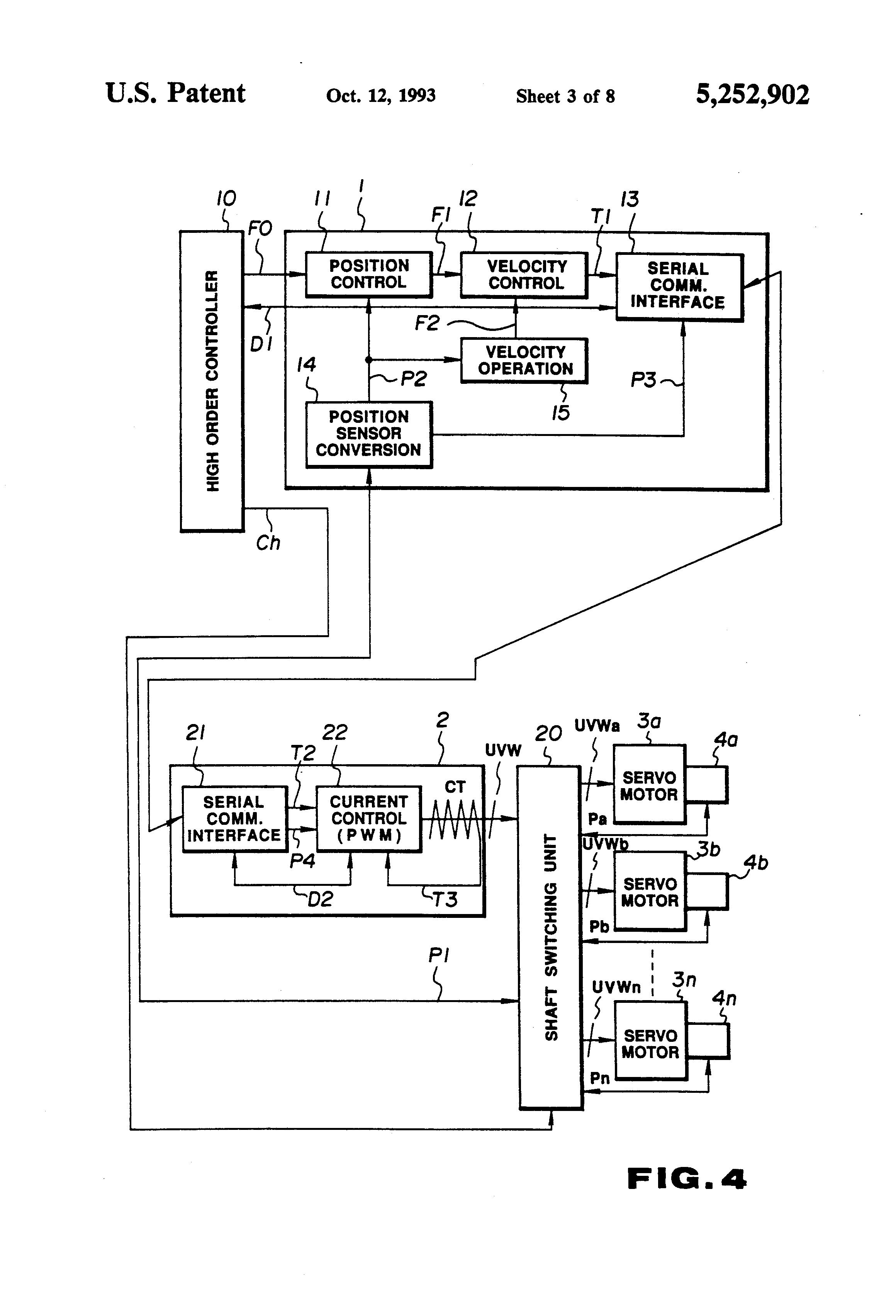 Patent us5252902 servo control system google patentsuche for Servo motor position control system