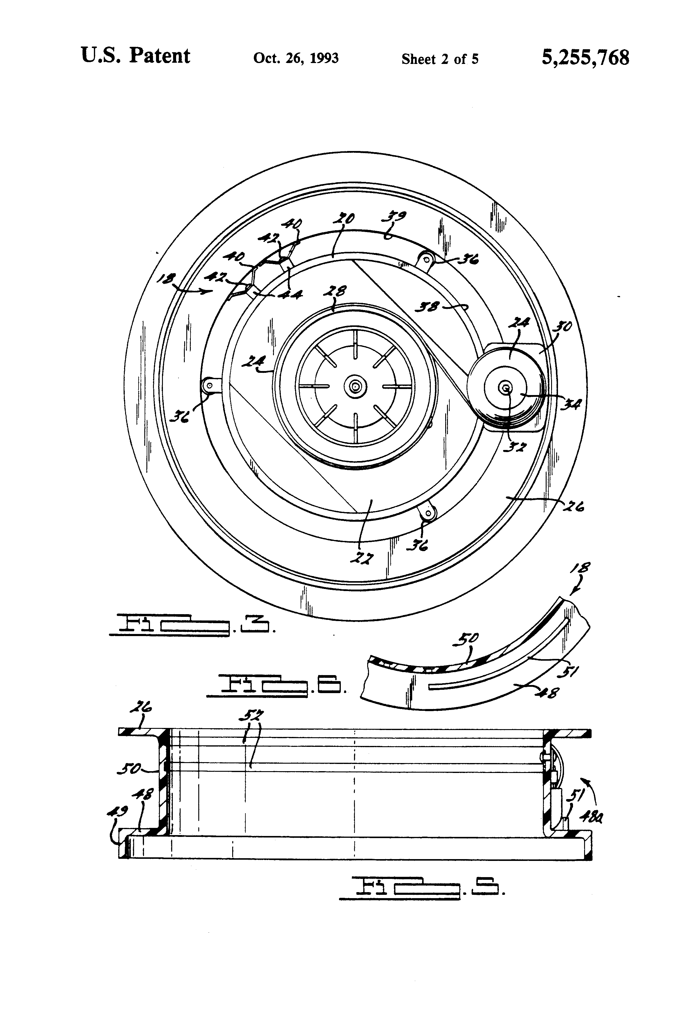 Patent Us5255768 Cord Winder Apparatus For A Vacuum