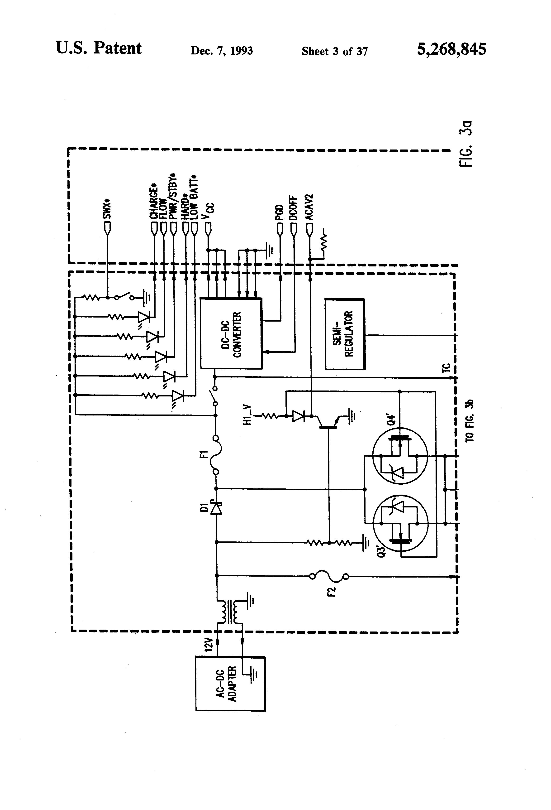 Patent Us5268845 Method For Detecting Low Battery State Without Ac To Dc Inverter Wiring Diagram Drawing