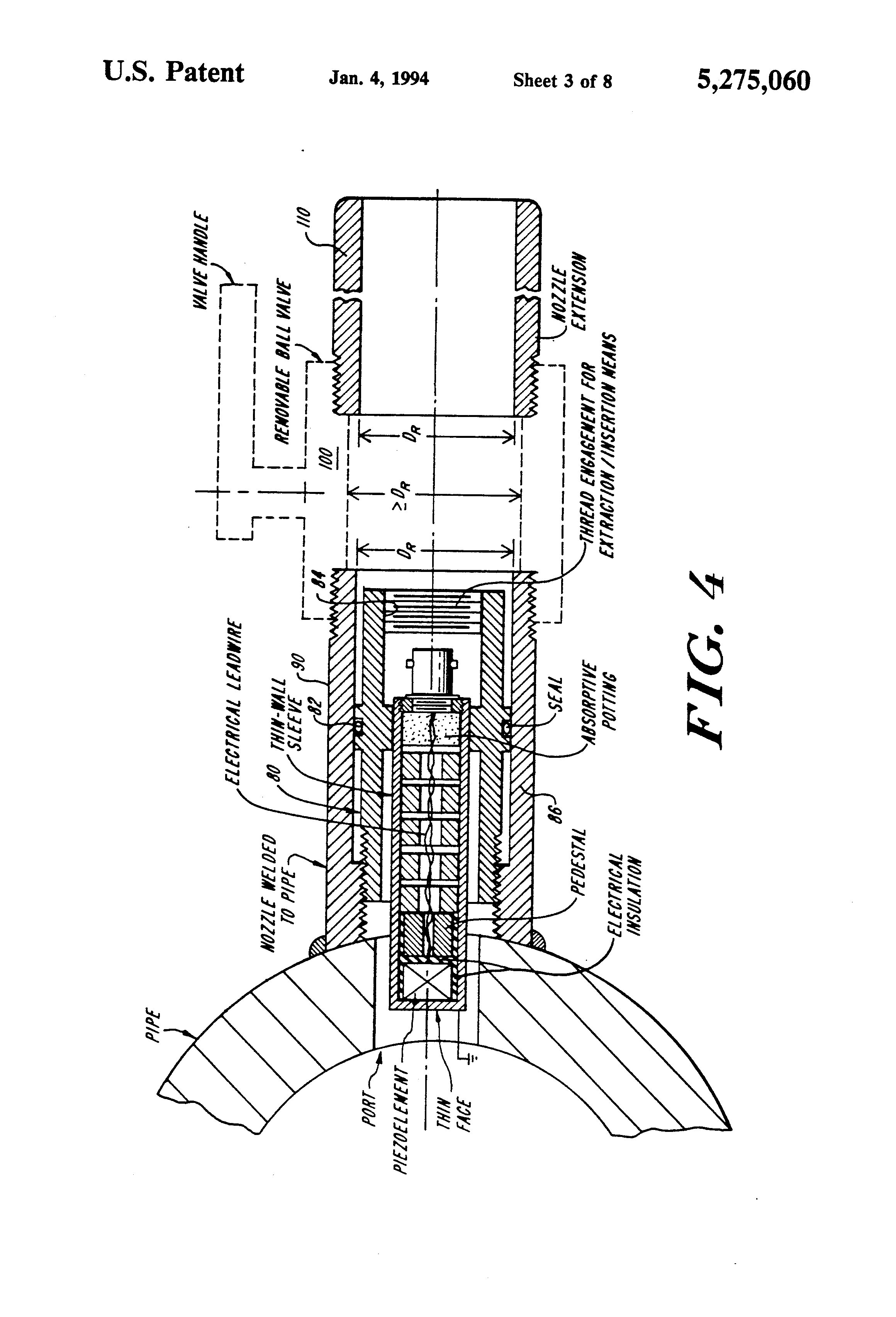 Patent Us5275060 Ultrasonic Transducer System With Crosstalk Wiring Diagram Furthermore Electric Meter Pedestal Drawing