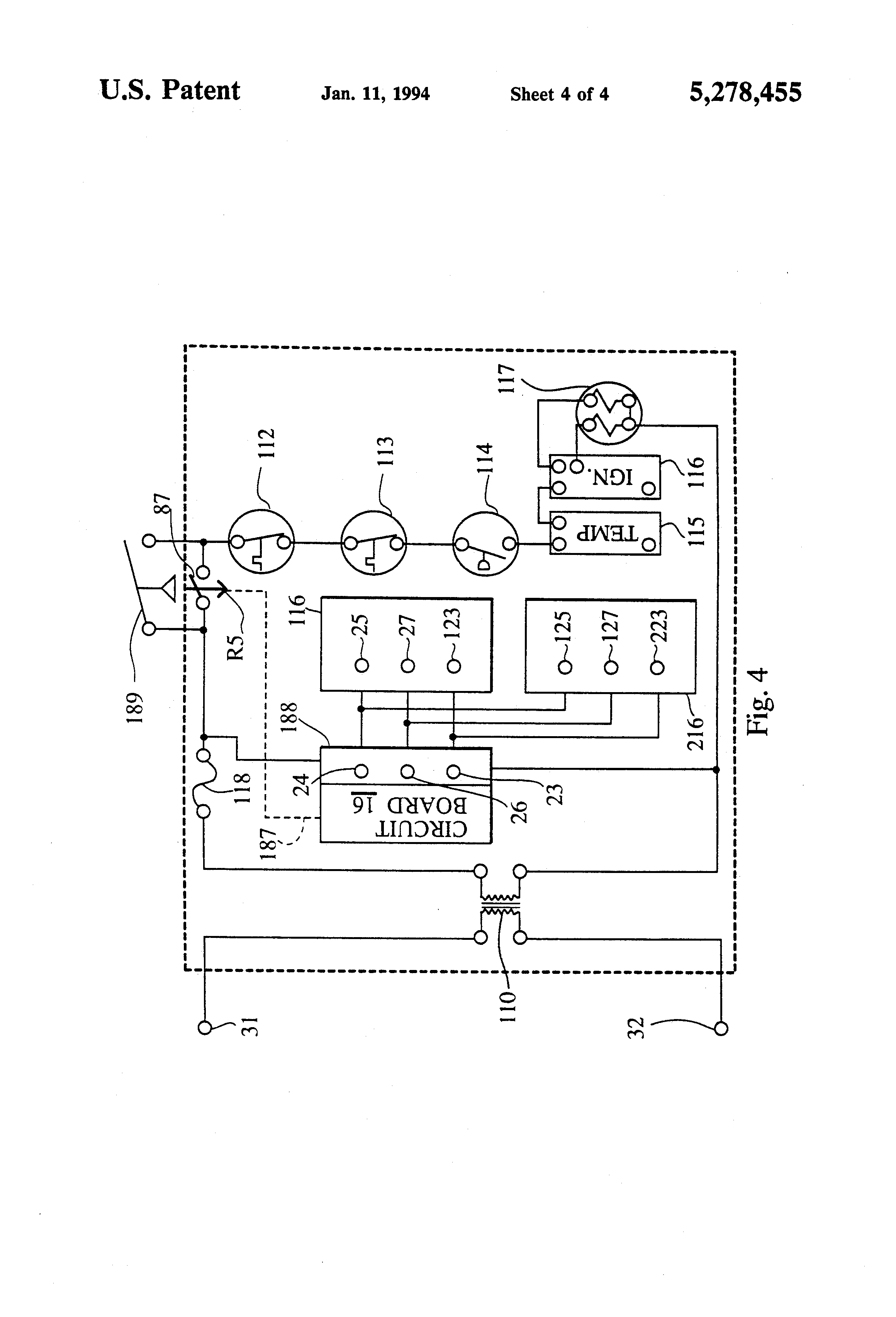 US5278455 4 patente us5278455 spa and pool pump and heater control google jandy spa side remote wiring diagram at aneh.co