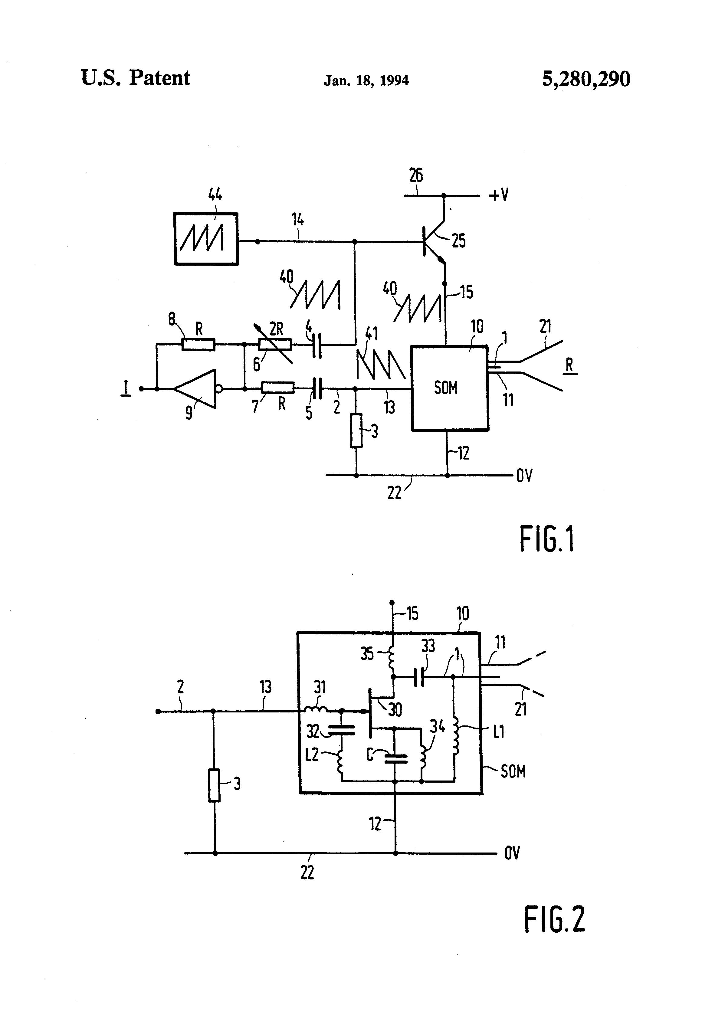 براءة الاختراع US5280290 - Self-oscillating mixer circuits, and FMCW