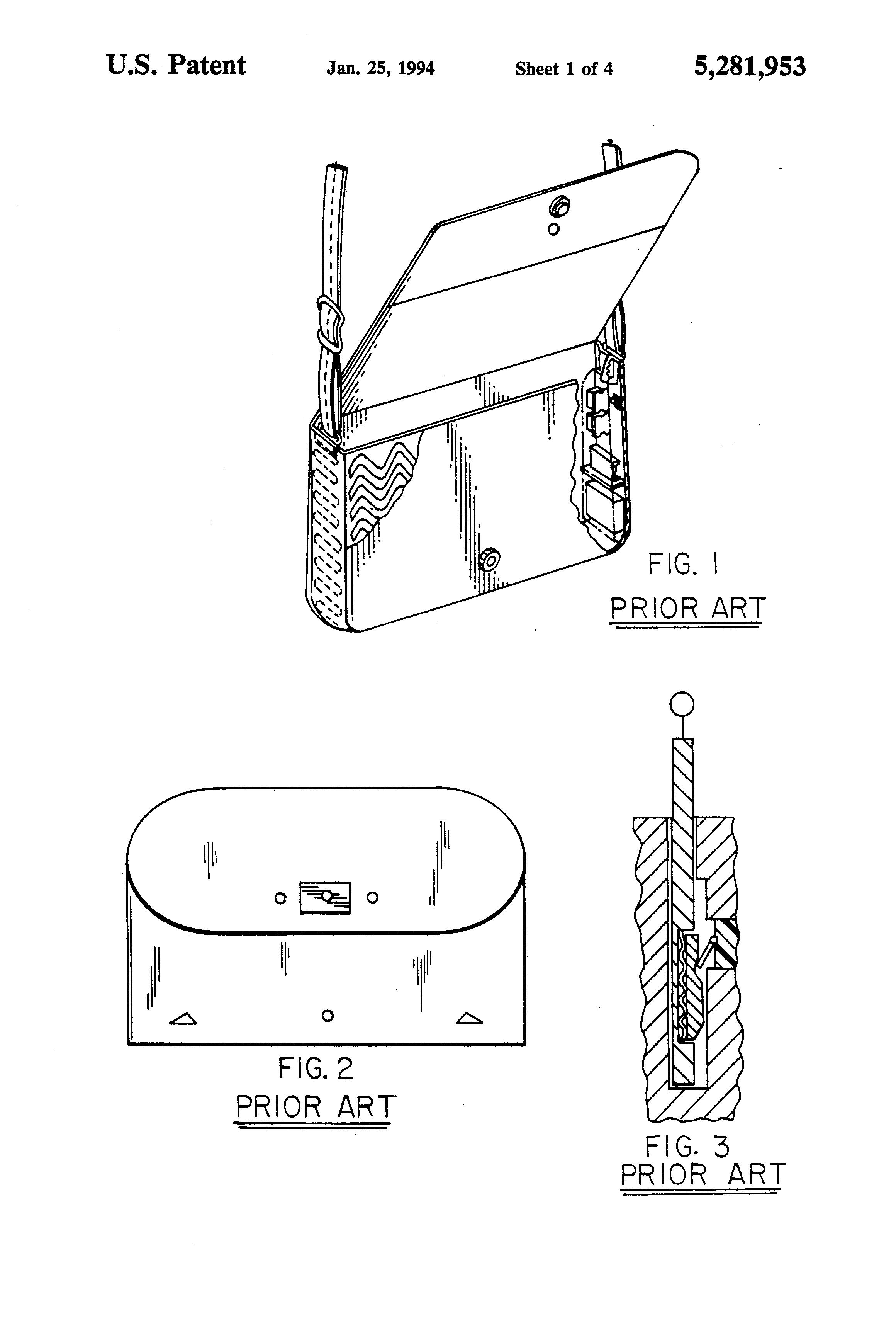 patent us5281953 - heat sensitive purse alarm