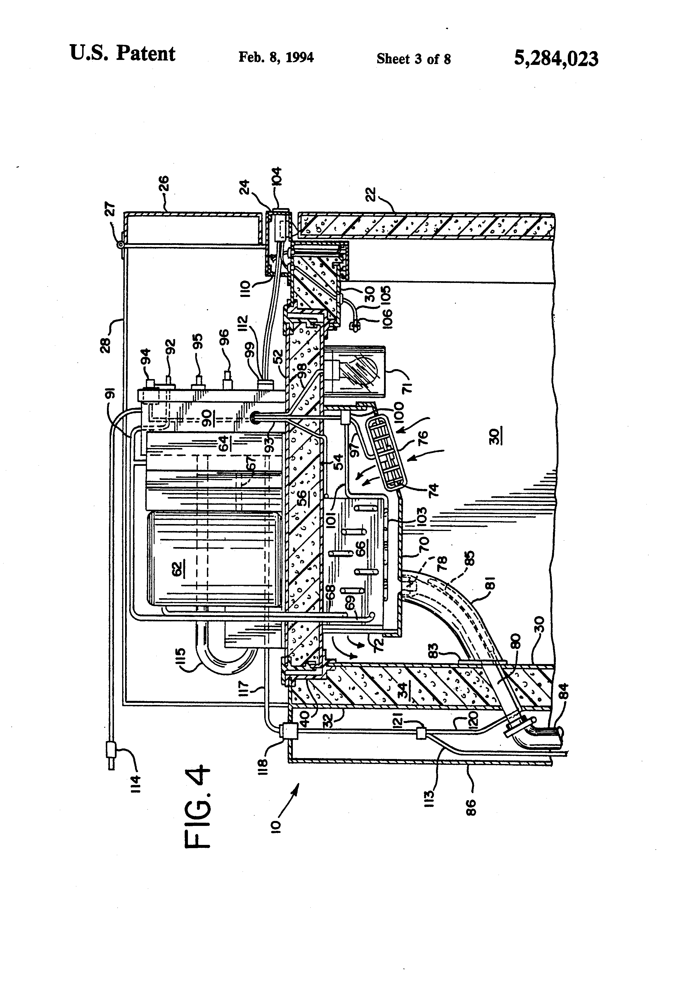 patent us5284023 - reach-in cooler with window