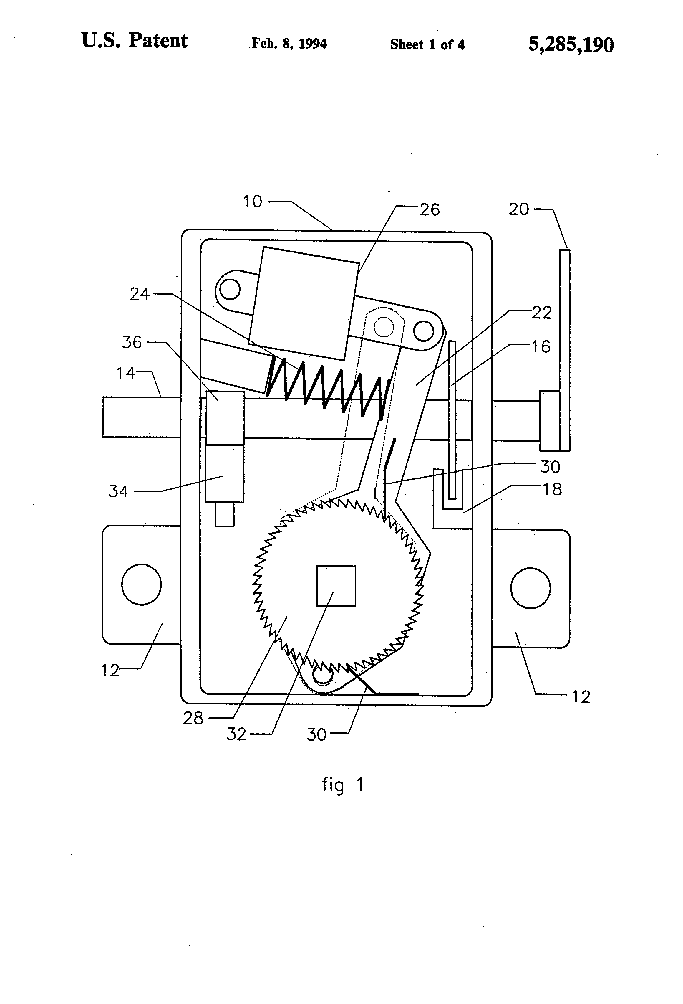 Patent US5285190 - Automatic slack adjuster with operation