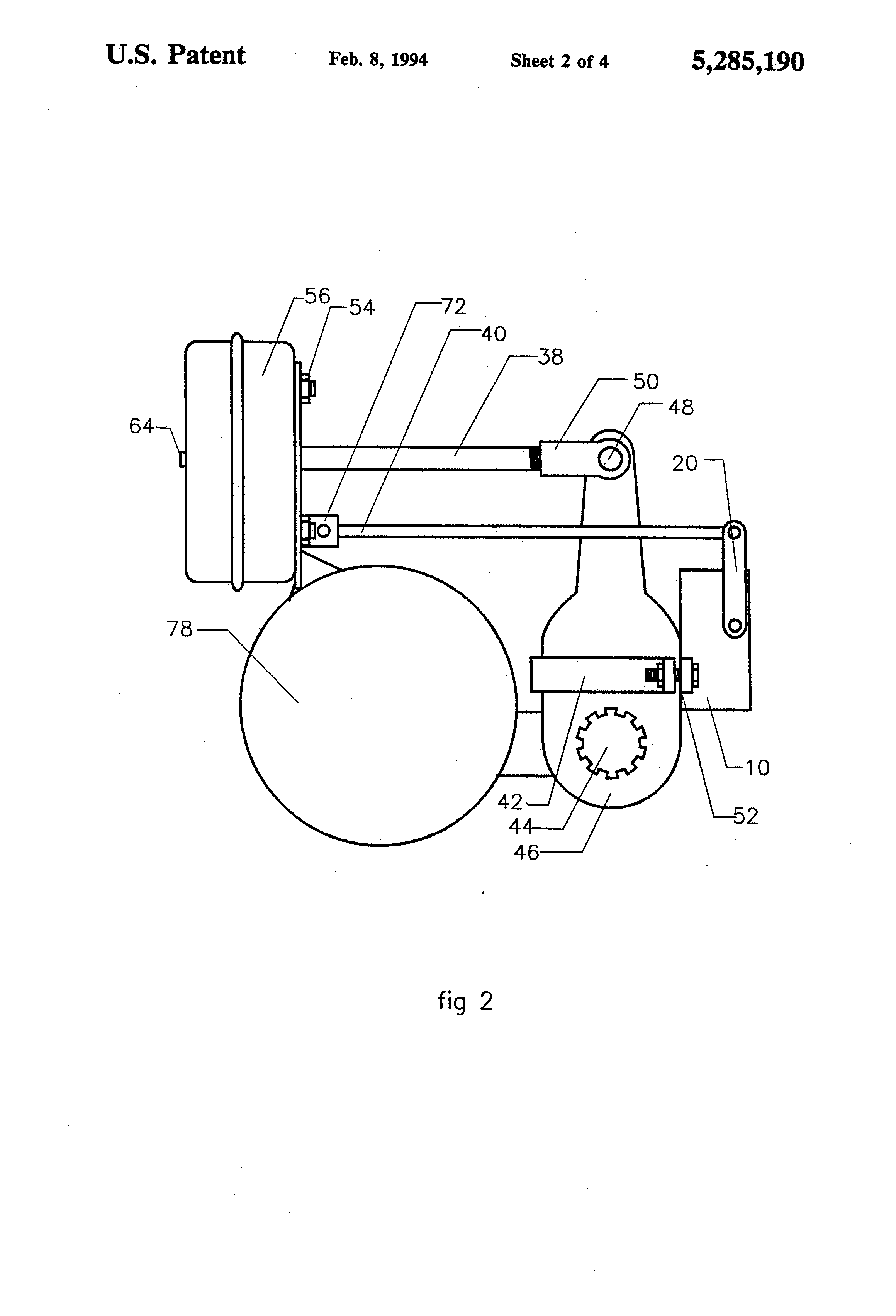 Patent US5285190 - Automatic slack adjuster with operation and