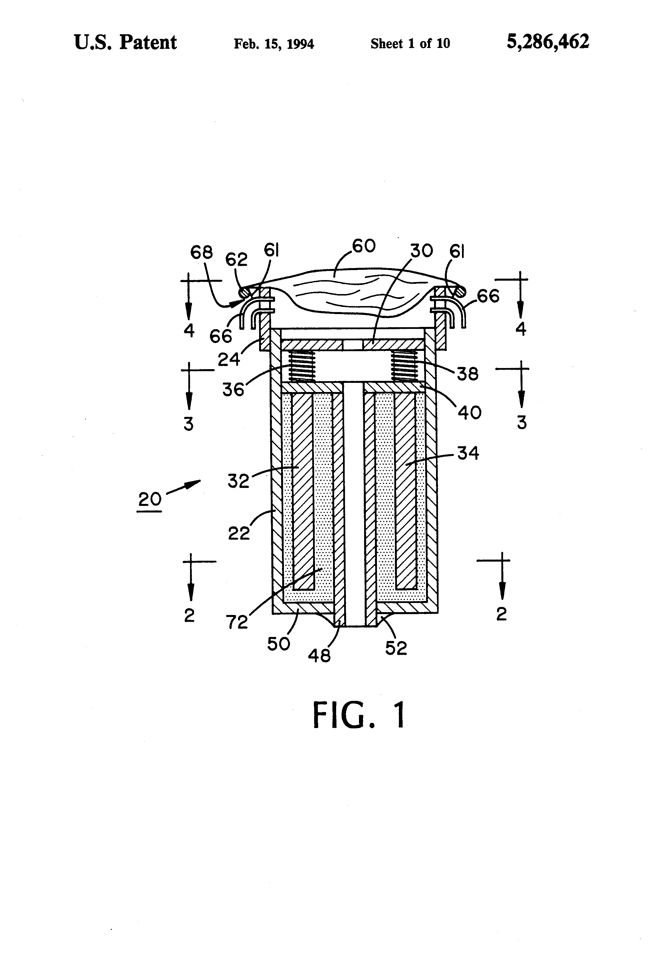 patent us5286462 gas generator system for underwater buoyancy