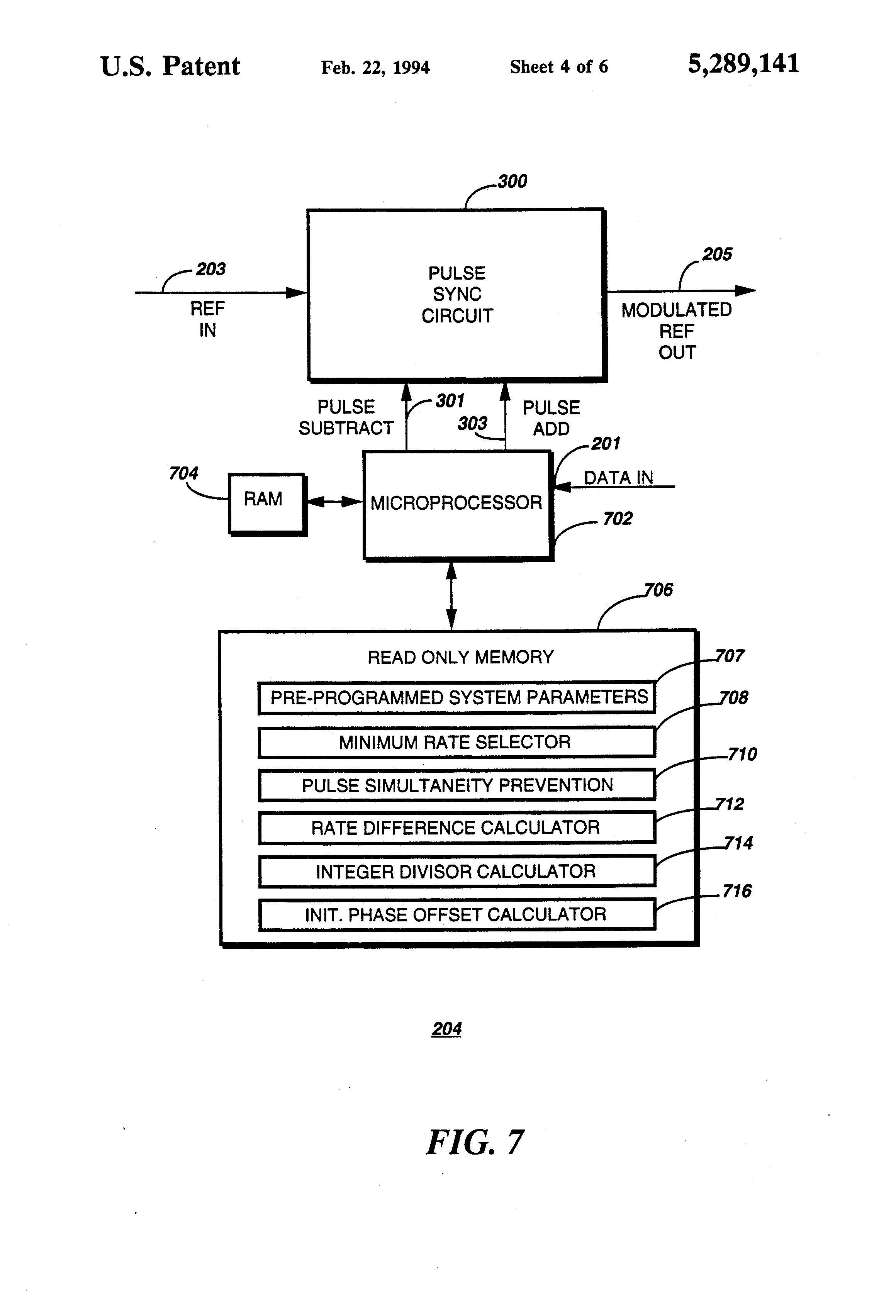 Patent Us5289141 Method And Apparatus For Digital Modulation Using Mc145170 Pll Fm Transmitter Drawing