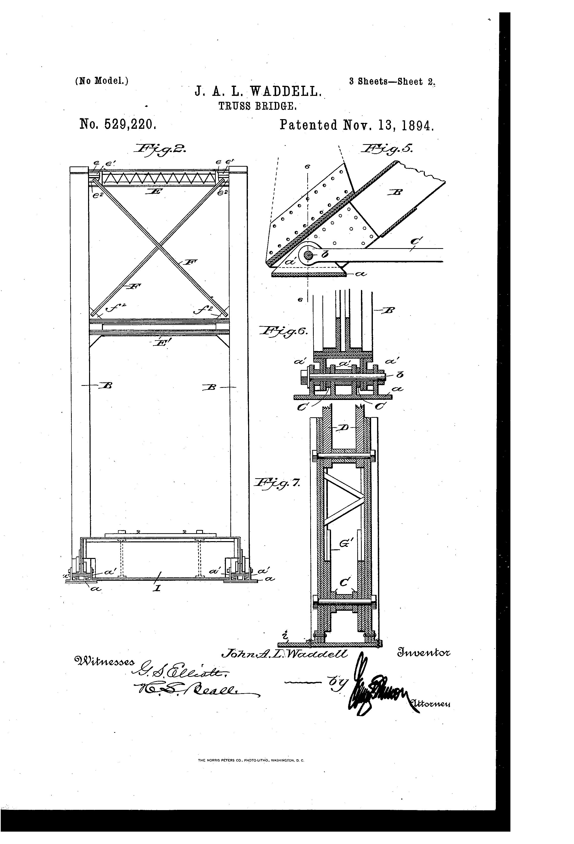 patent us529220 - truss-bridge