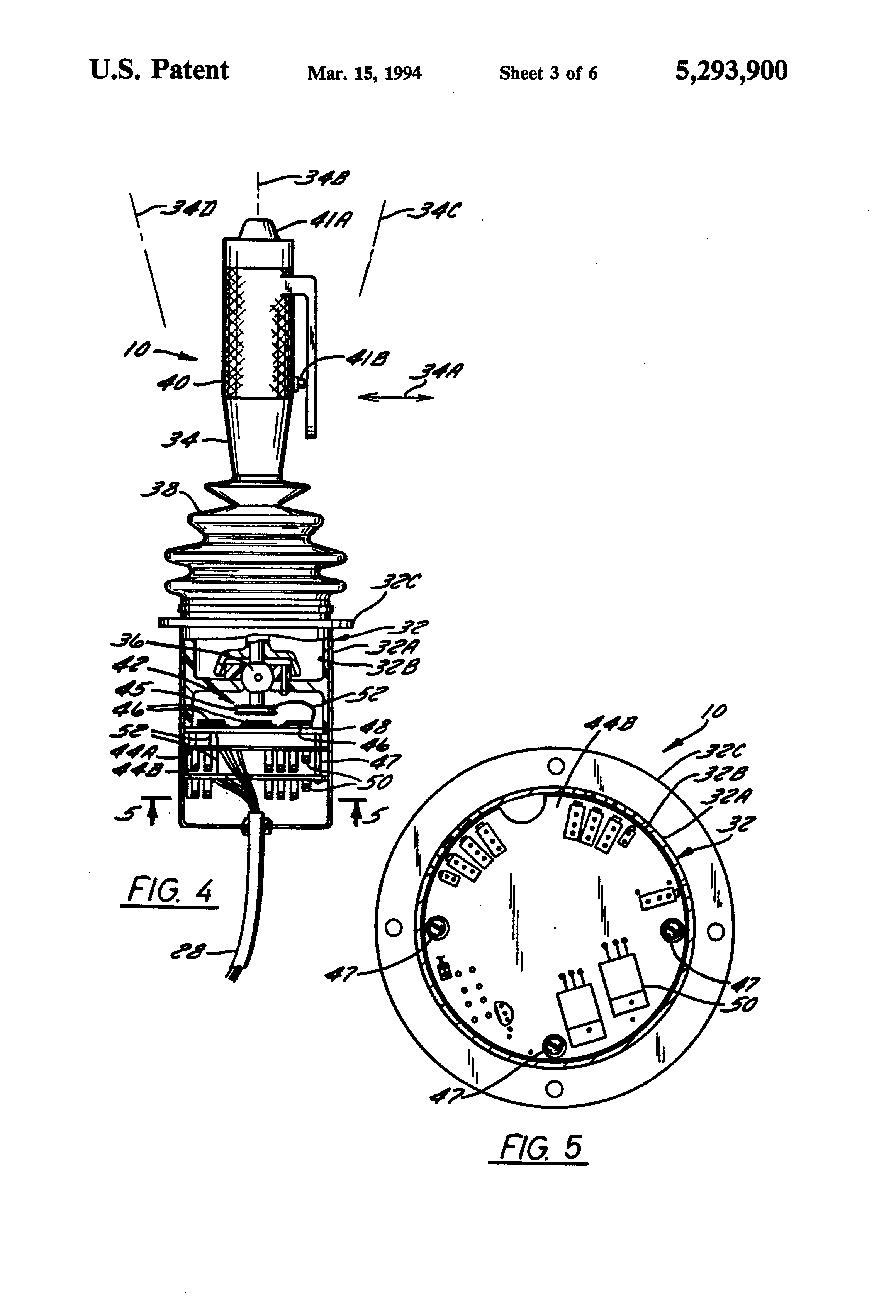 Patent Us5293900 Joystick With Contactless Direct Drive