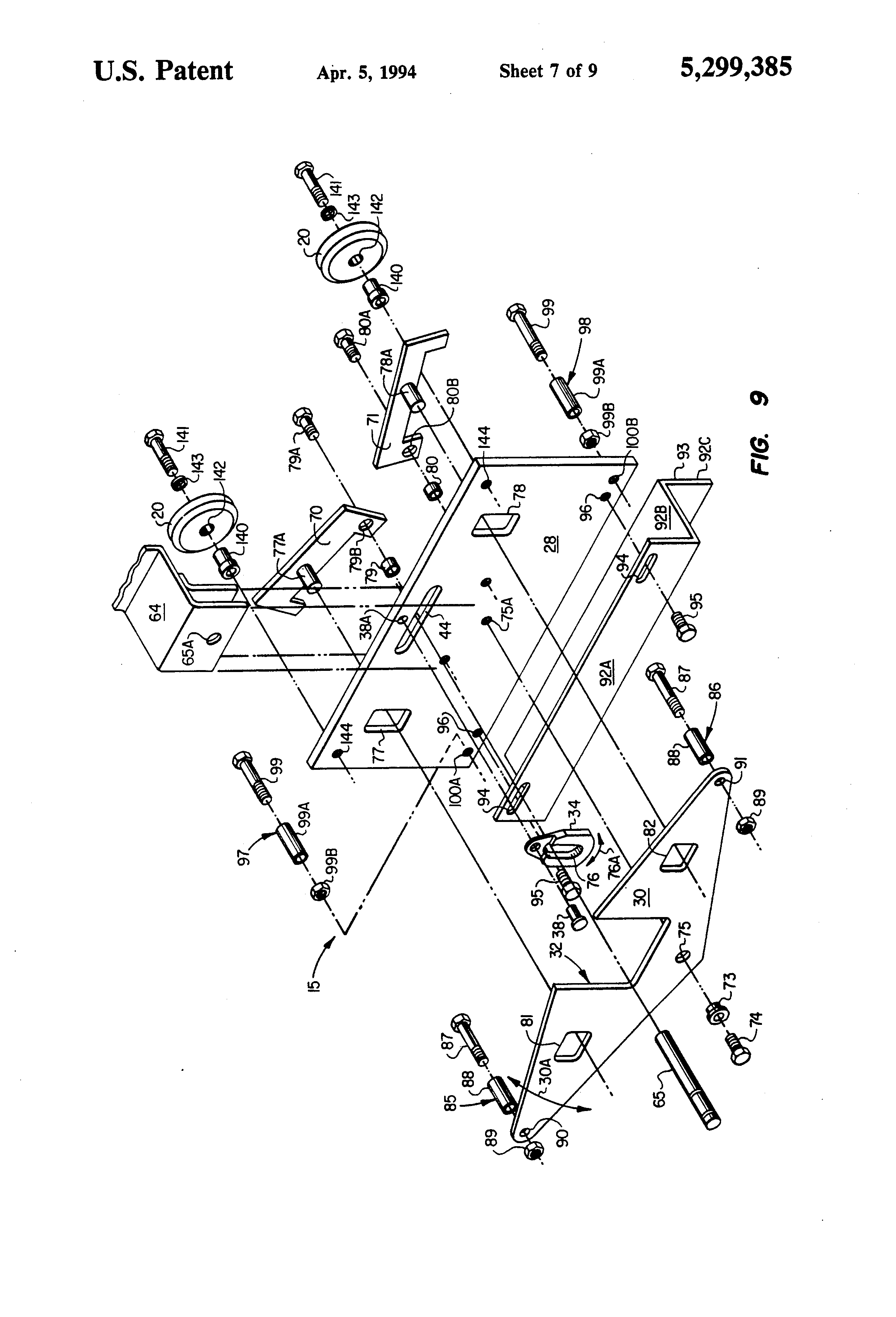 Patente Us5299385 Detention Cell Locking System Google Patentes One Transistor Code Lock By 2n2222 Patent Drawing