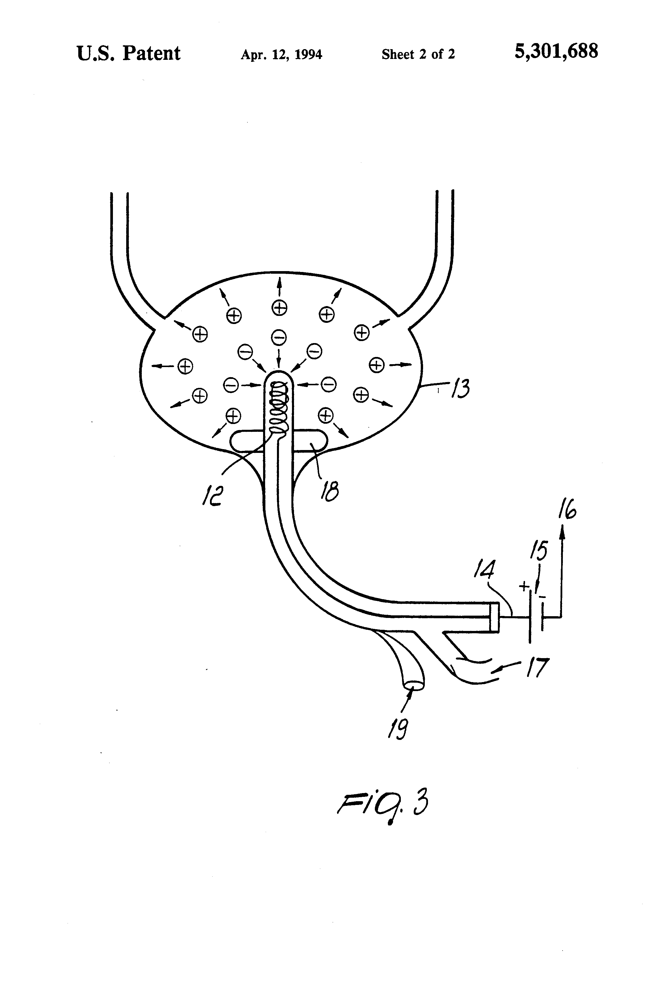 patent us5301688 method for localization and therapy of occult Cerebrospinal Fluid Diagram patent drawing
