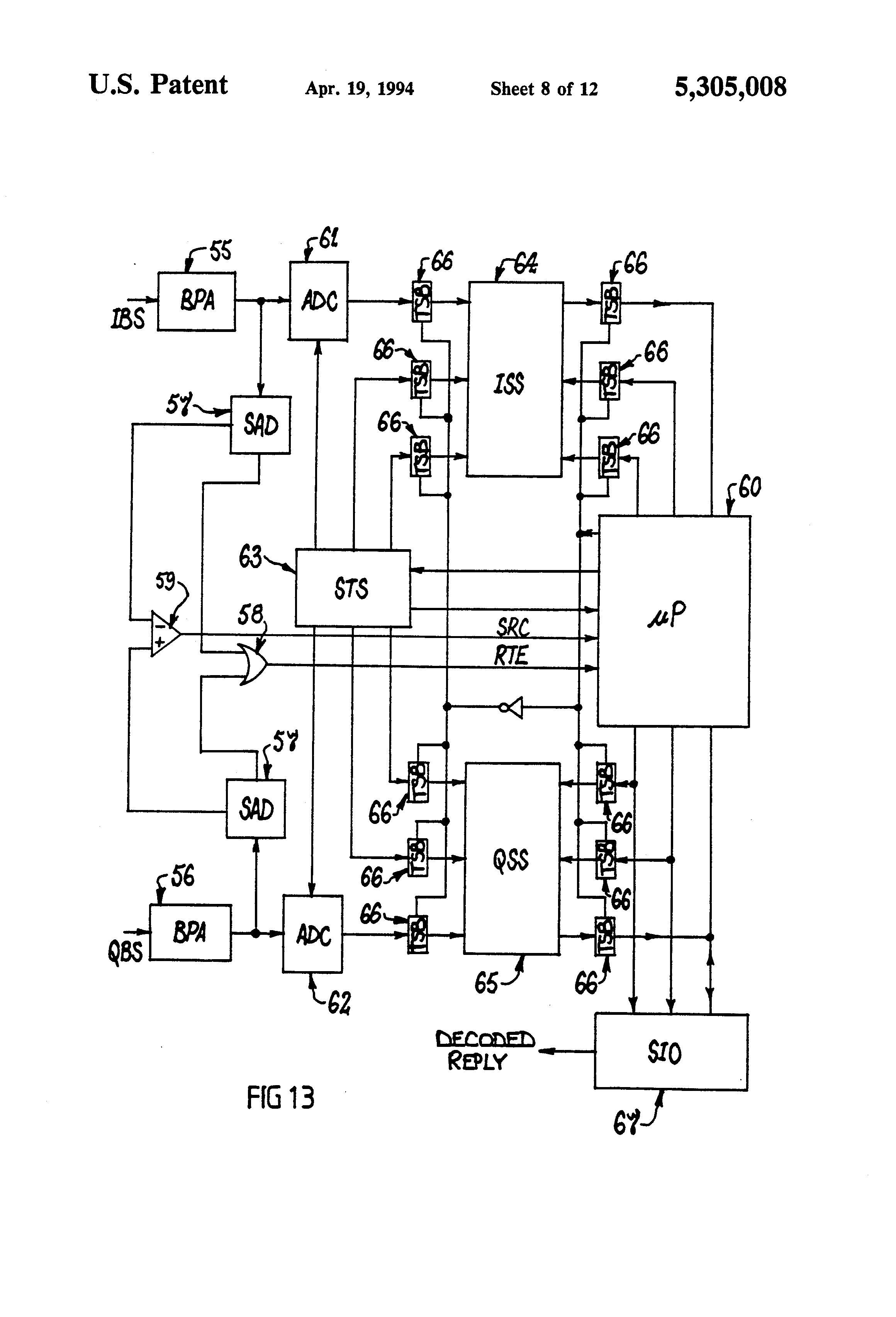 Patent US5305008 - Transponder system - Google Patents