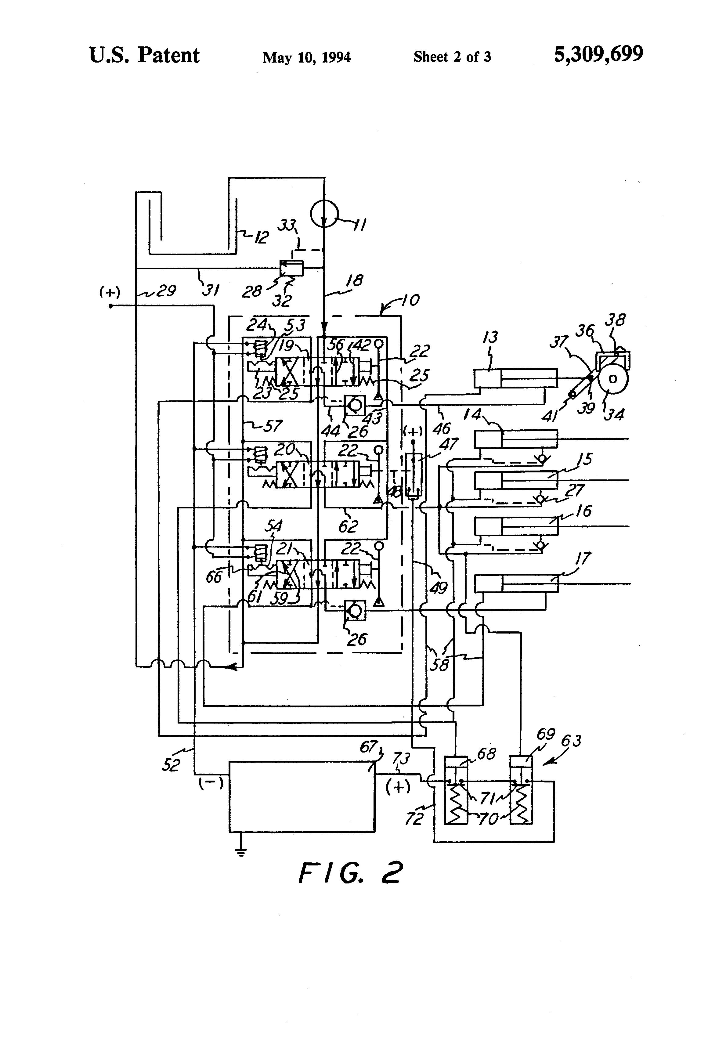 case backhoe wiring diagram case automotive wiring diagrams description us5309699 2 case backhoe wiring diagram