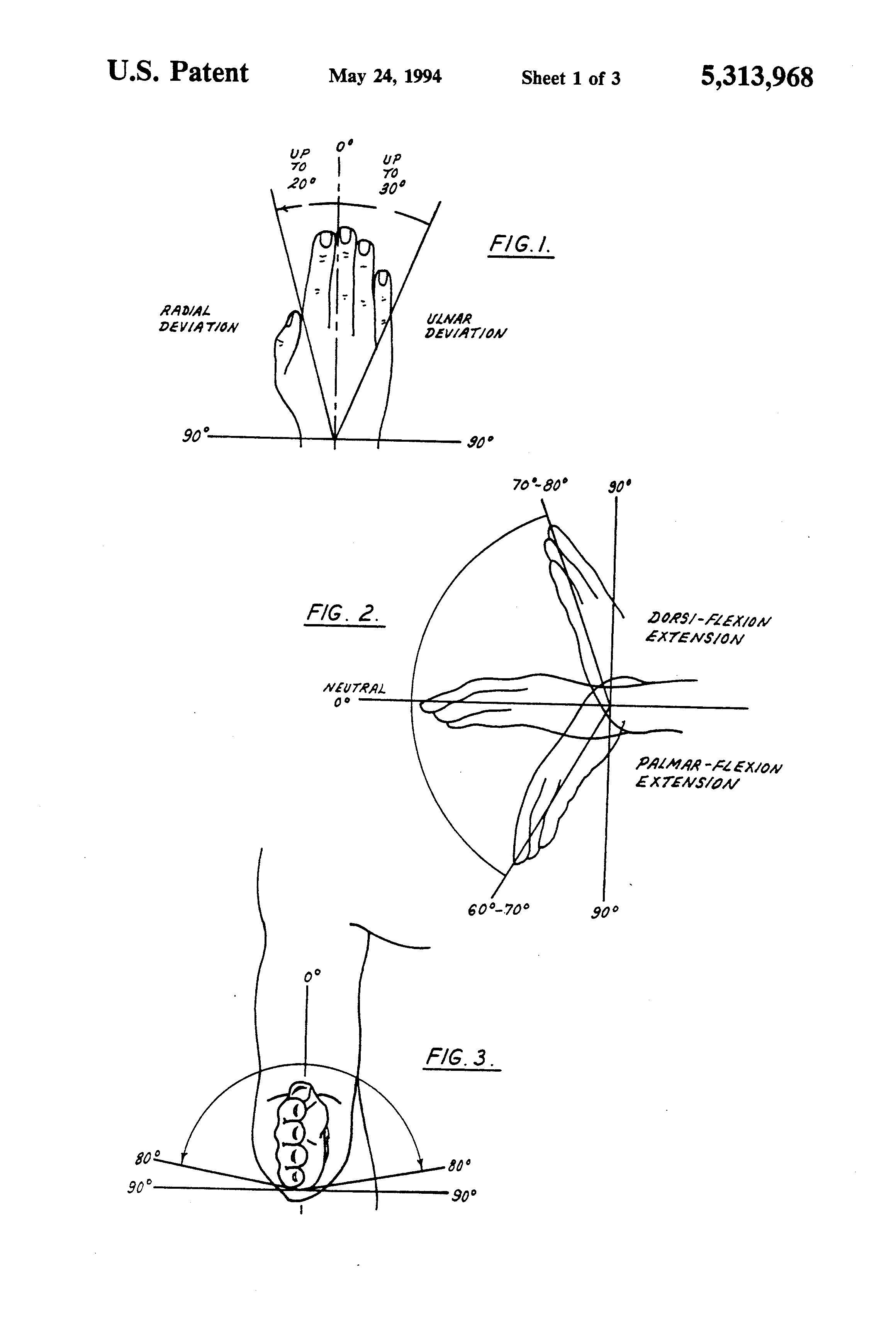 Patent US5313968 - Joint range of motion analyzer using ...