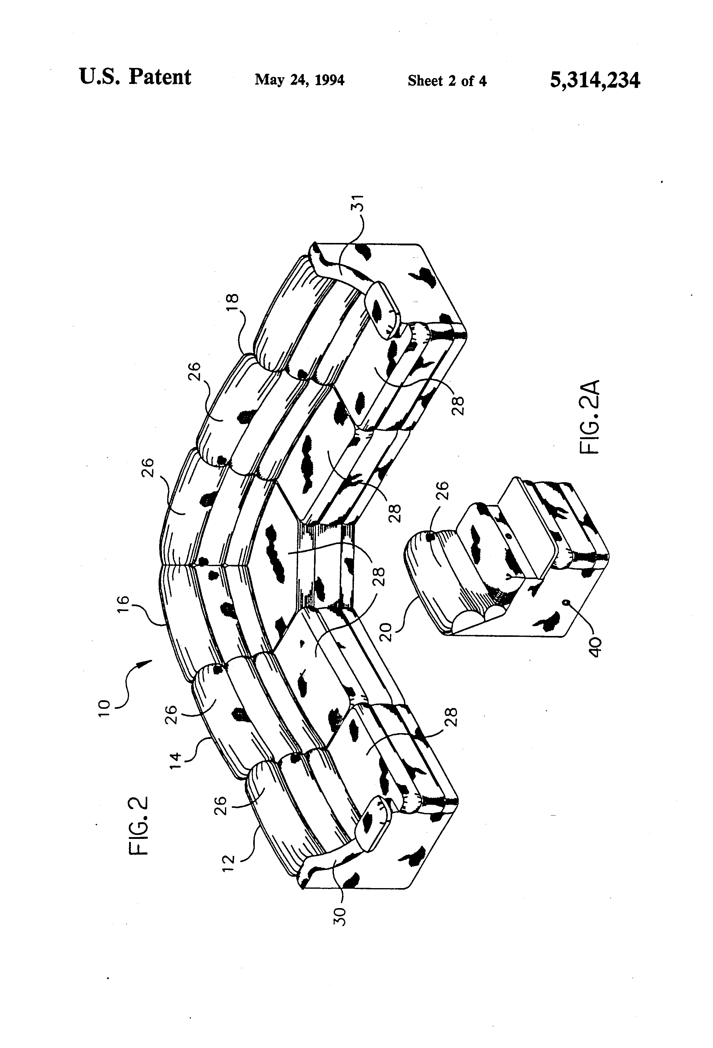 Patent US Sectional sofa assembly with dual reclining