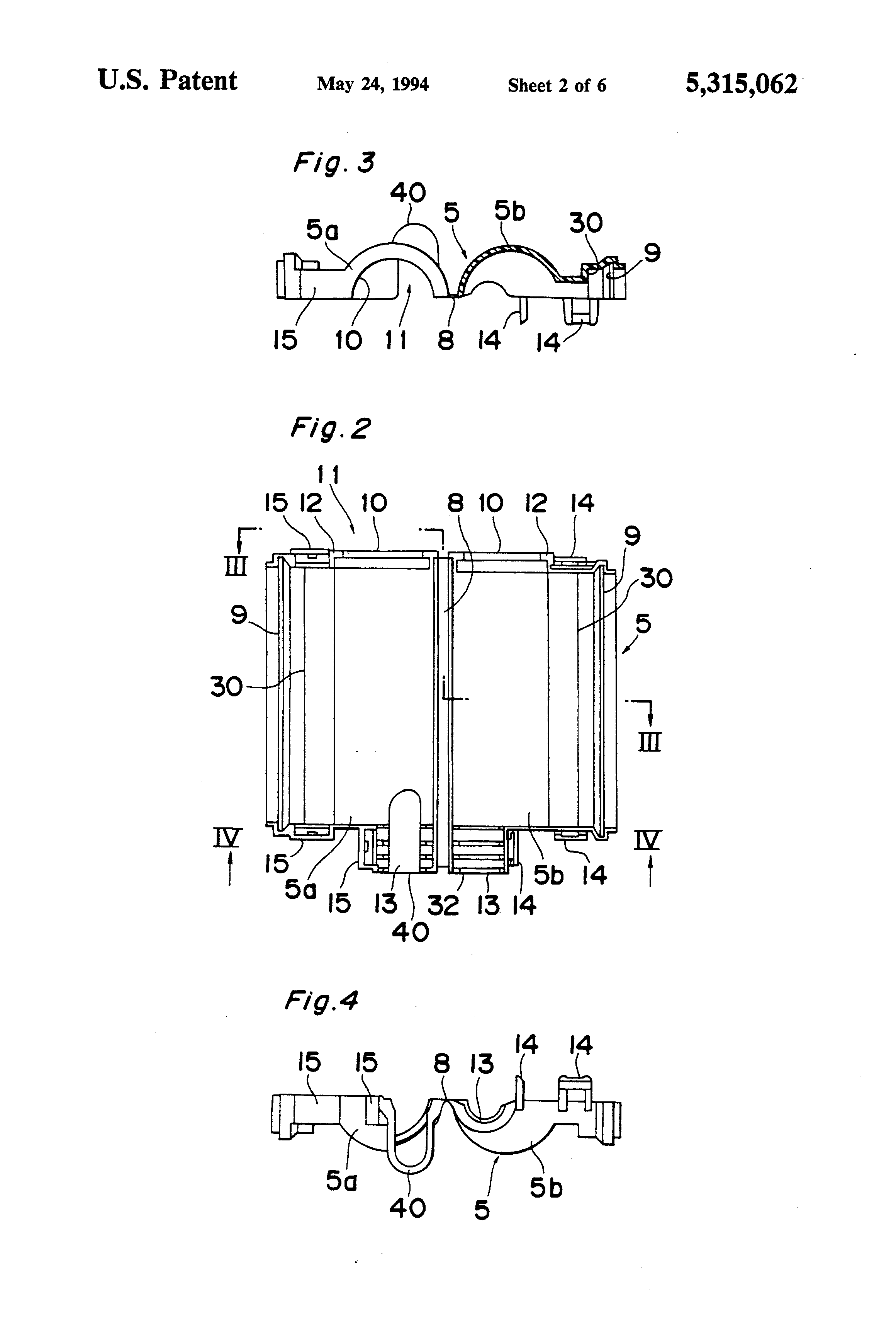 patent us5315062 - wire harness connector cover