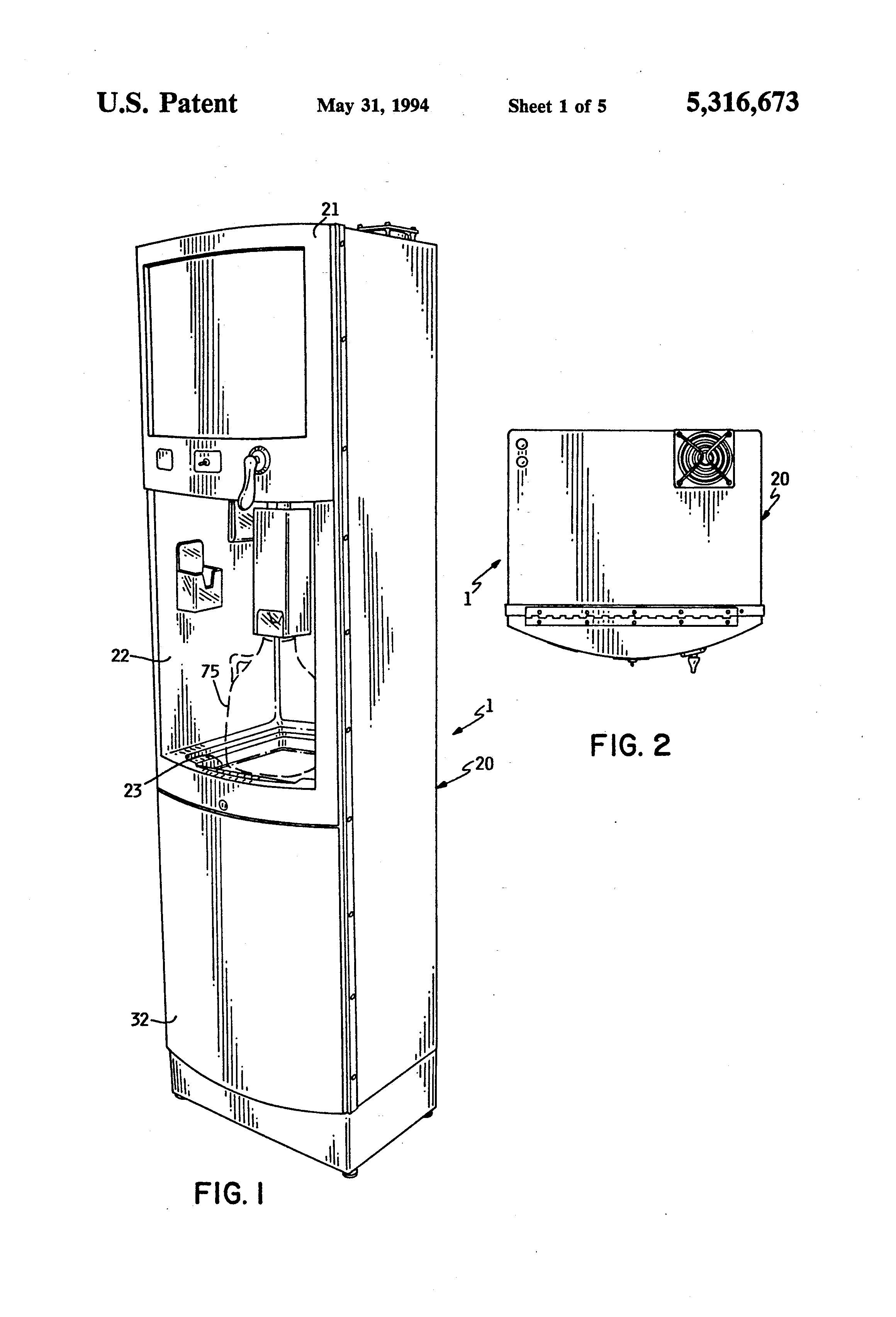 water cooler diagram patent us5316673 - spout assembly for self-service ... #6