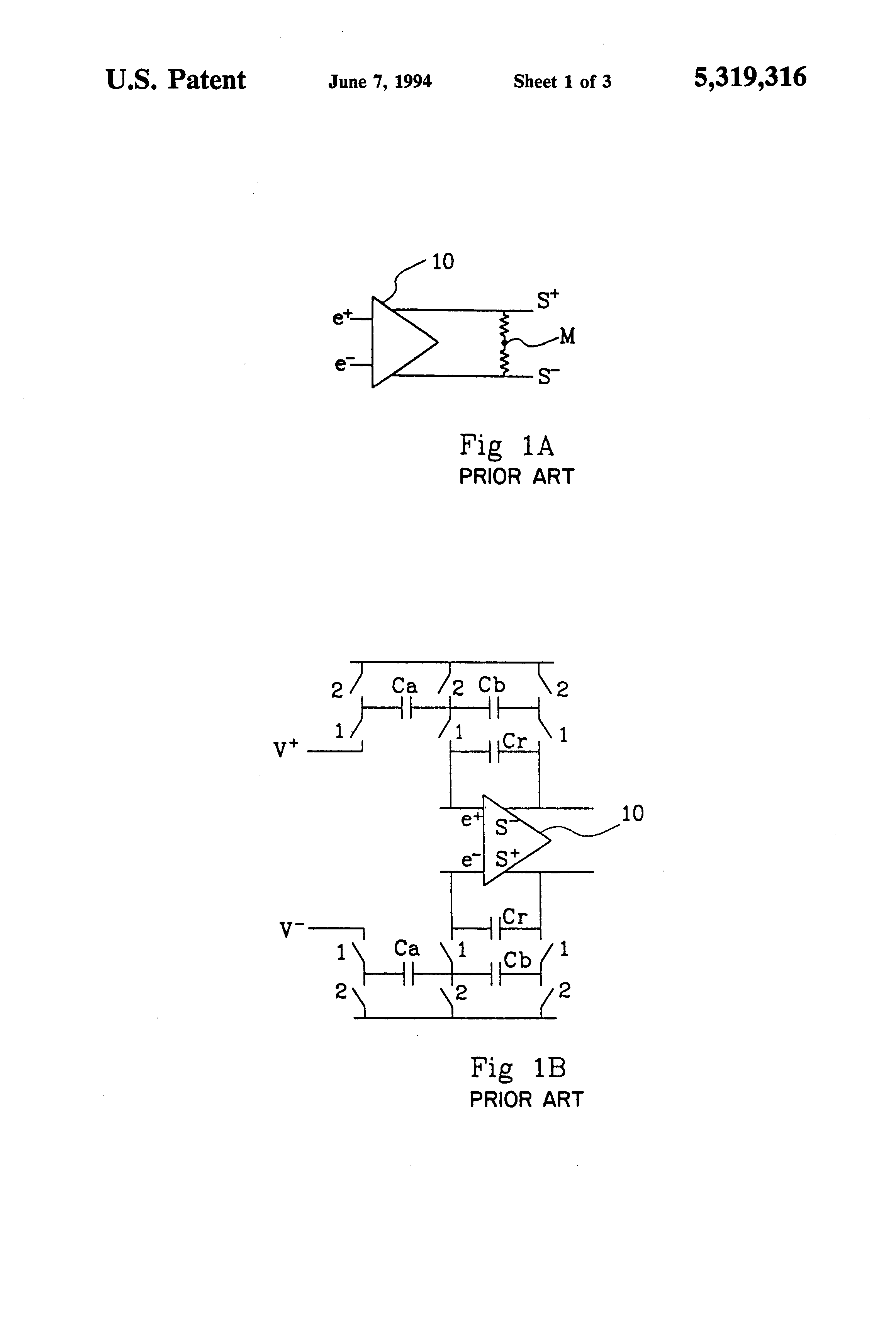 Patent Us5319316 Negative Feedback Cmos Differential Amplifier First Lowvoltage Fully Switchedcapacitor Drawing
