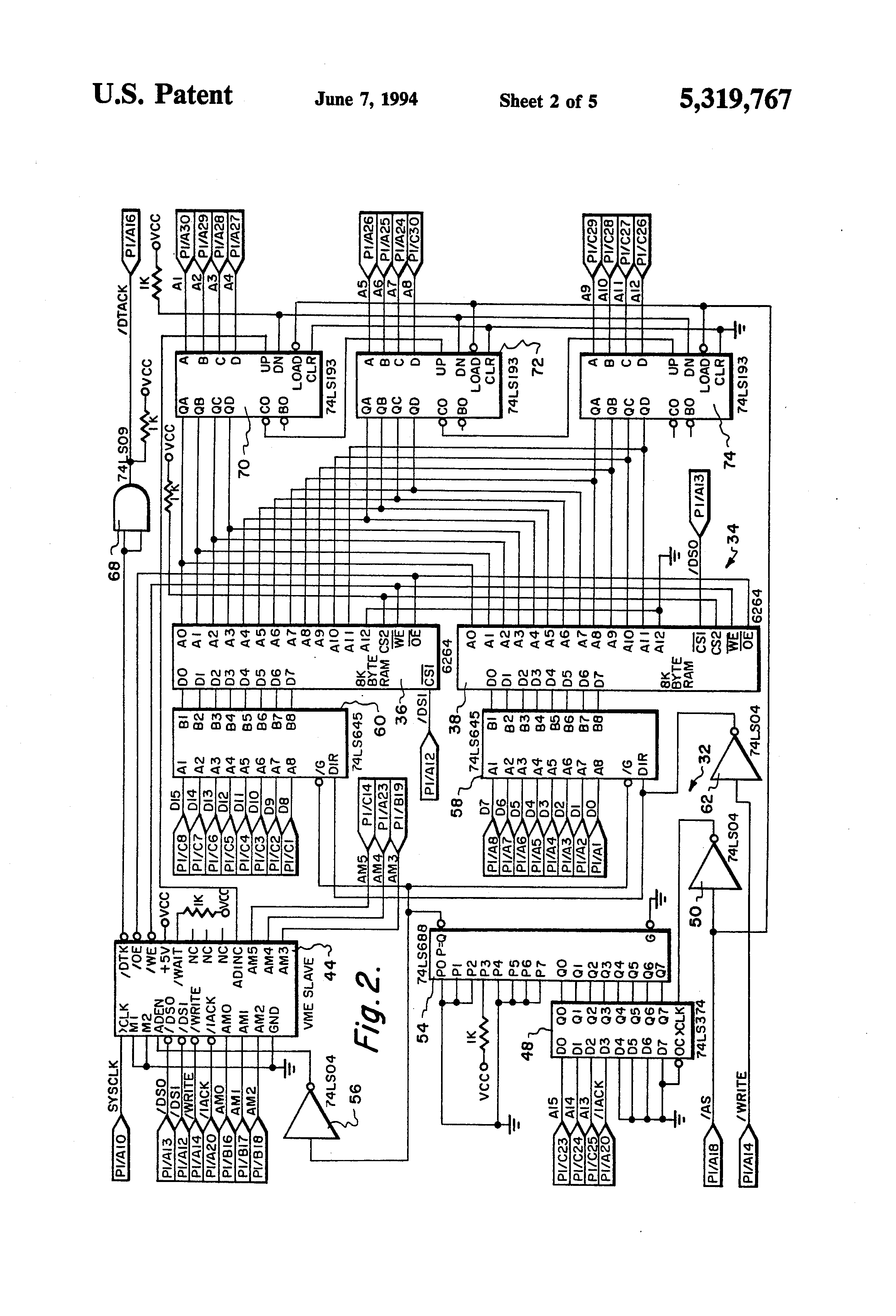 Patent Us5319767 Slave Controller For Effecting A Block Transfer Logic Diagram 74193 Drawing