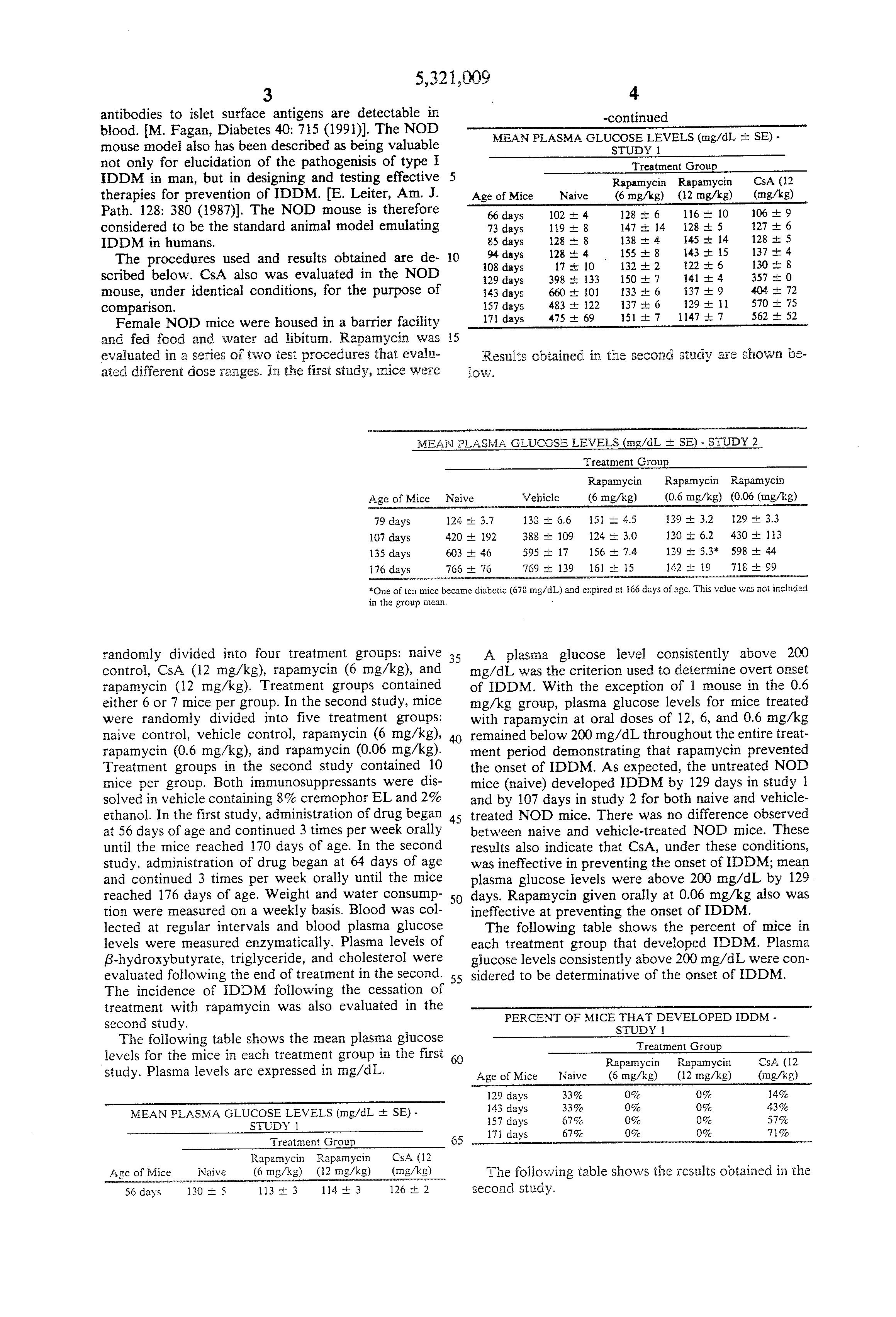 Patente US5321009 - Method of treating diabetes - Google