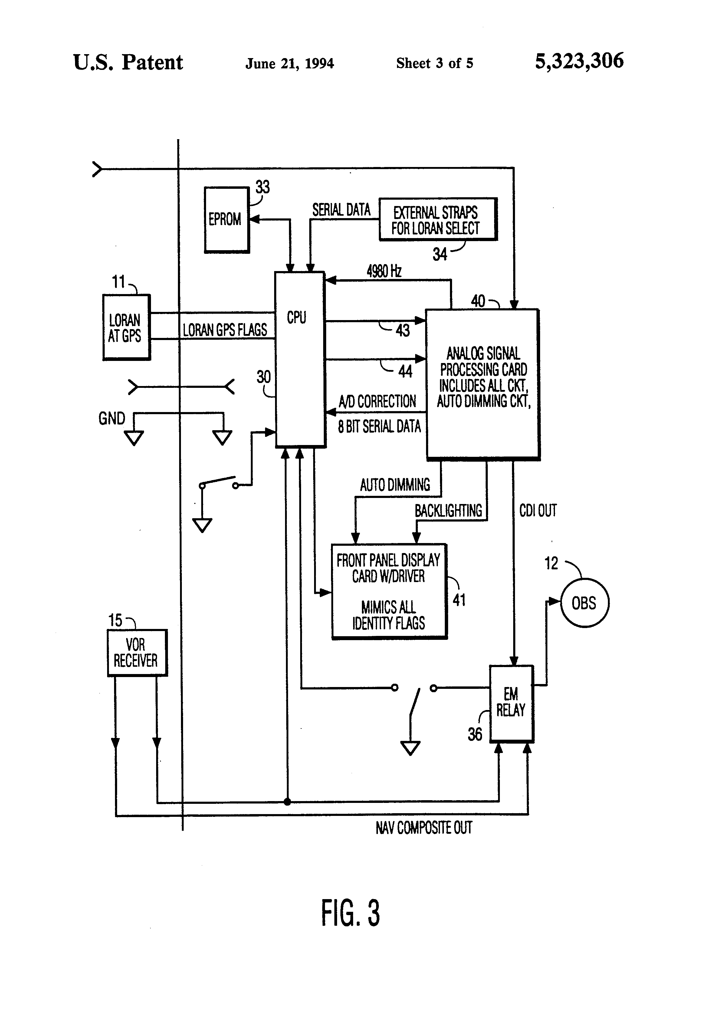 Patent Us5323306 Navigation System For Converting Bearing To Sine Wave Ttl Converter Circuit Diagram Drawing