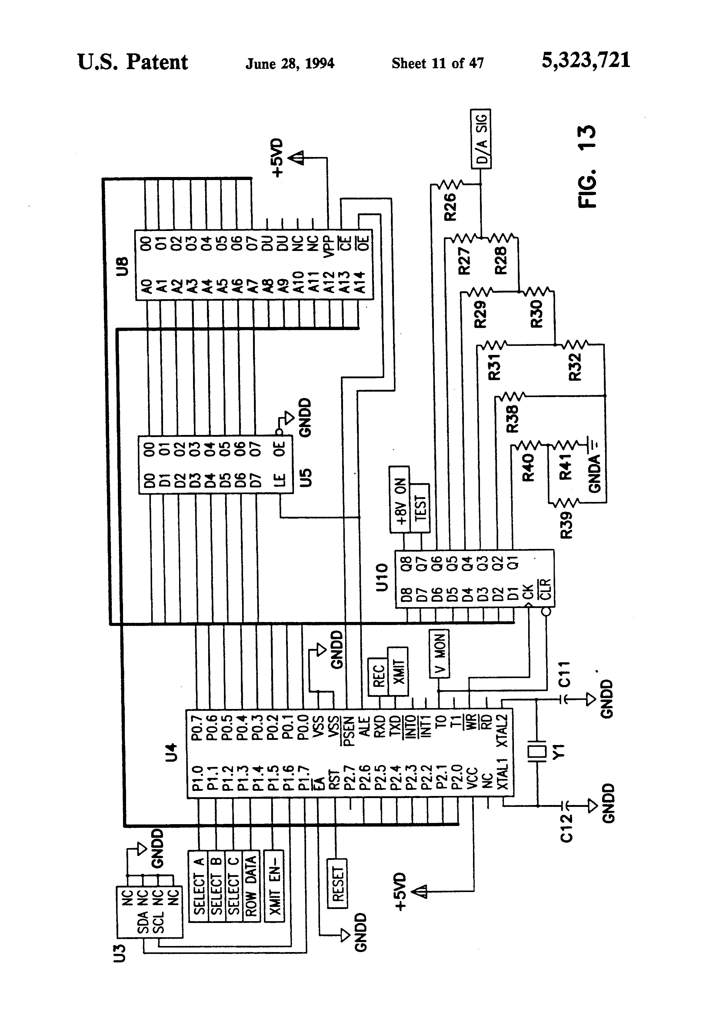 patent us5323721 - planter monitor system