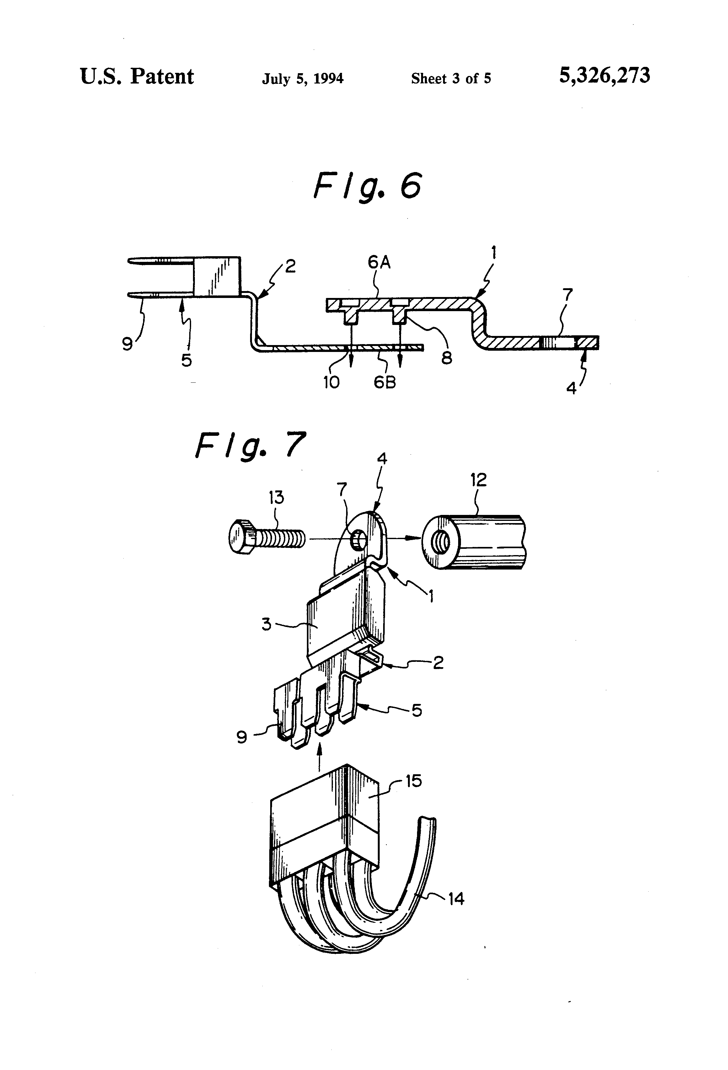 Patent US5326273 - Electric connection terminal - Google Patents