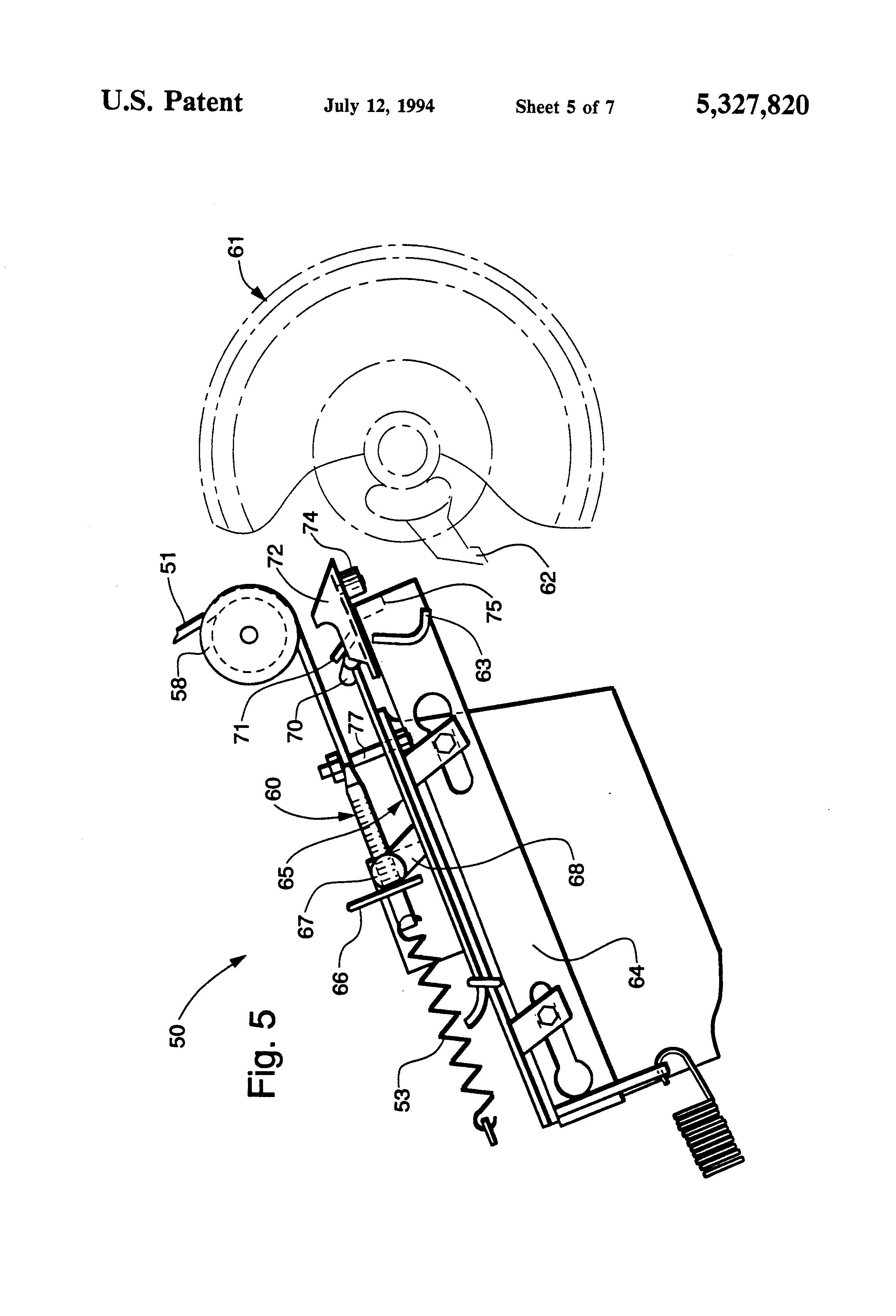 Patent US5327820 - Adjustable trip mechanism for round baler