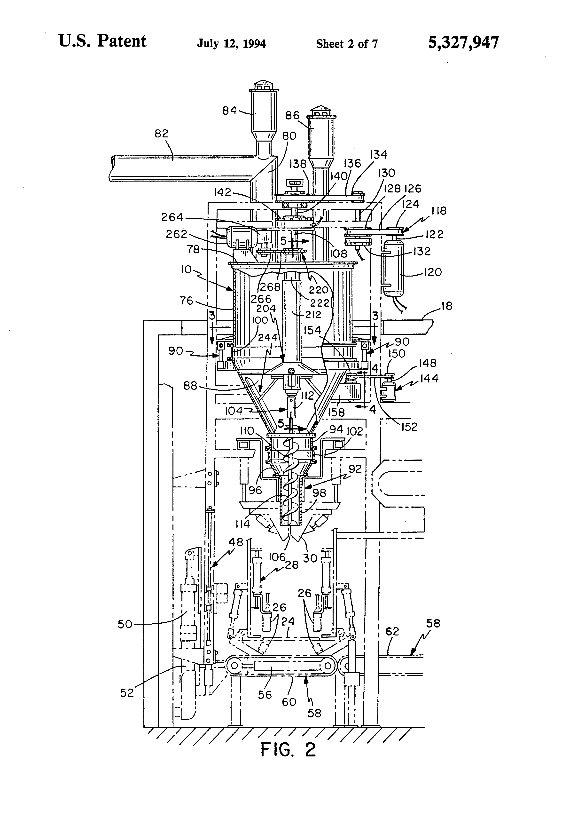 Patent Us5327947 Vertical Auger Type Bag Filler Having A Vibrating 94 Ford Explorer Vacuum Hose Diagram Wiring 1999 Drawing