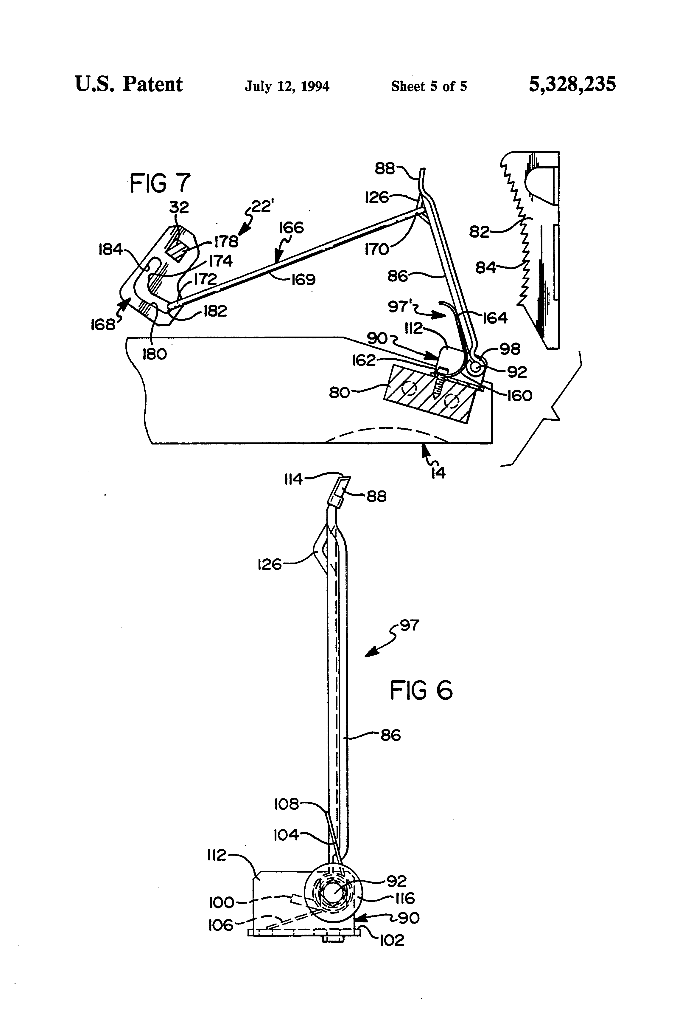 Patent Us5328235 Pawl And Ratchet Assembly Google Patents