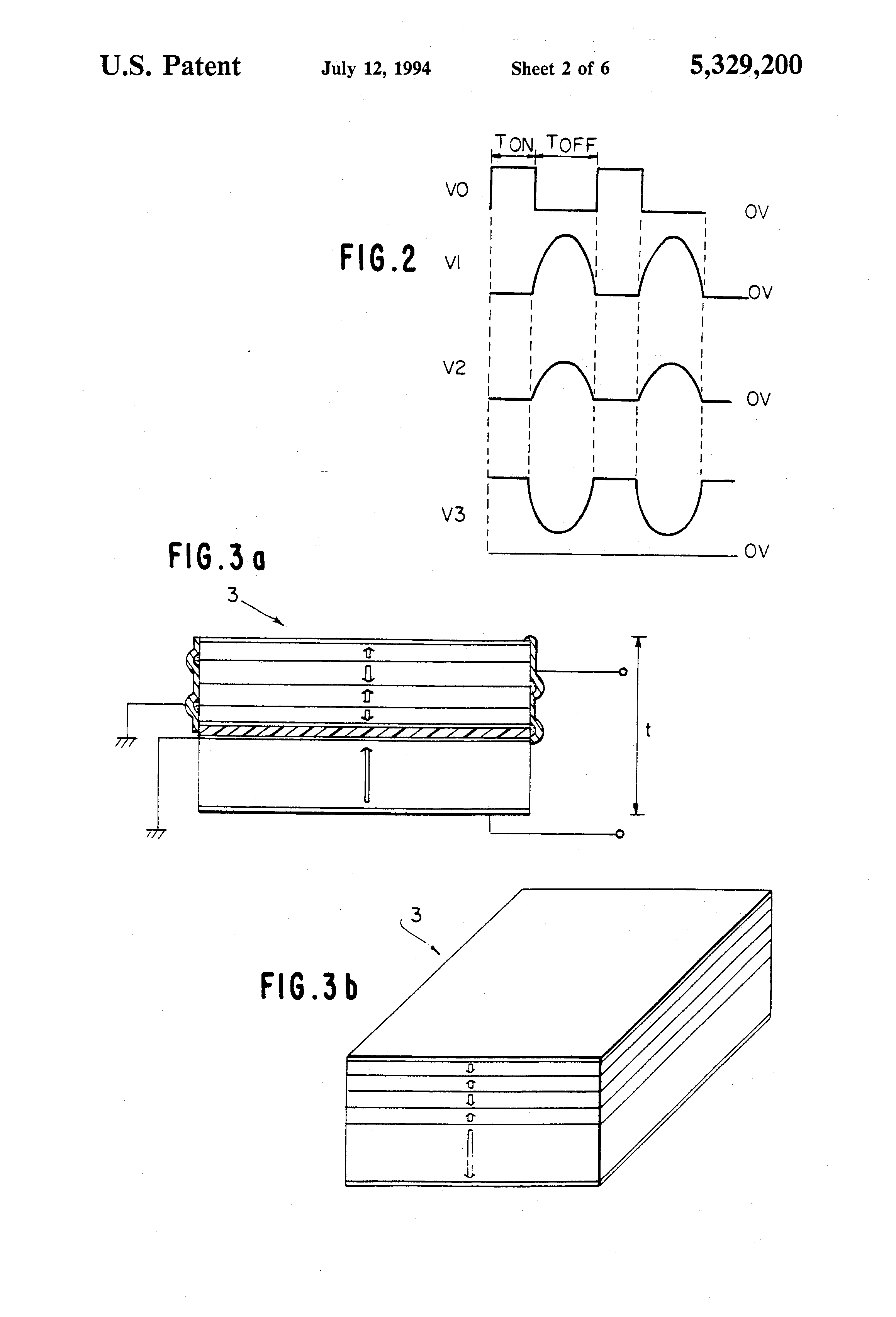 Patent Us5329200 Piezoelectric Transformer Converter For Power Use Highvoltage Amplifier Circuit Diagram Ceramic Drawing