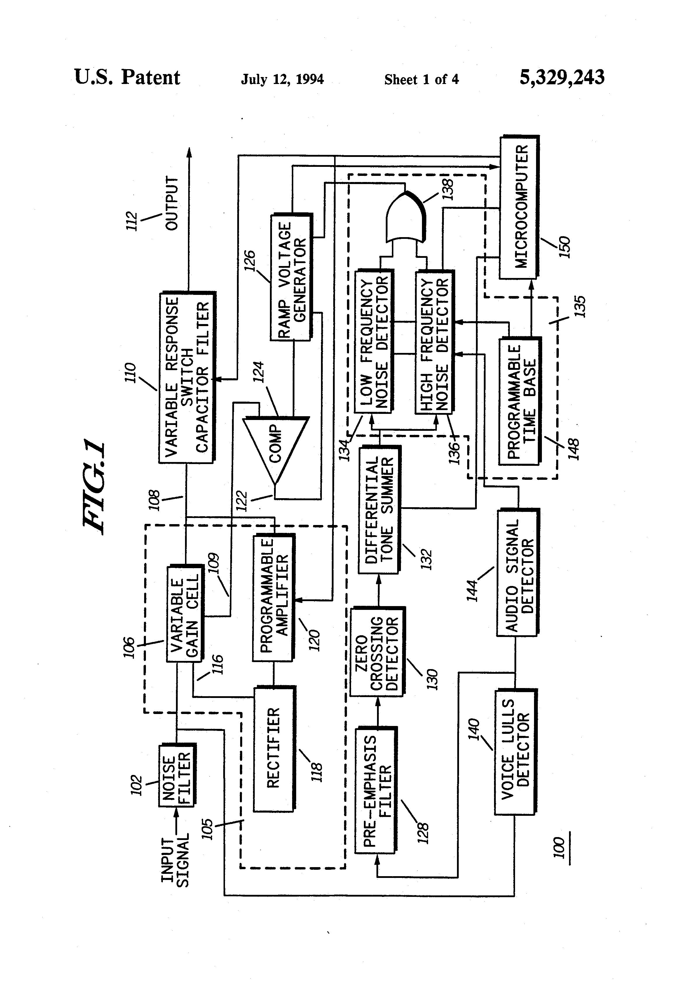 Patent US5329243 - Noise adaptive automatic gain control