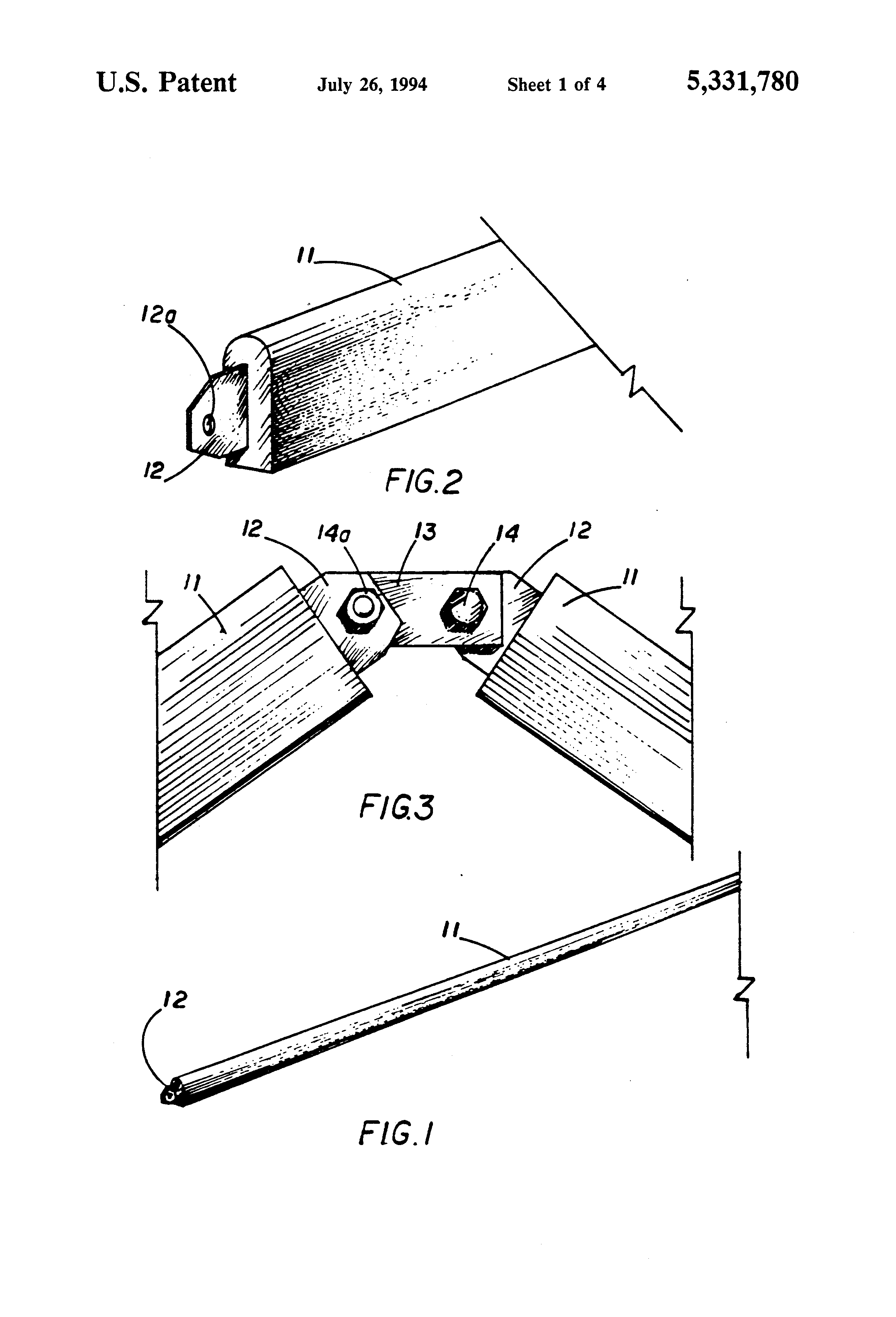 Patent Us5331780 Hyperbolic Paraboloid Roof And Sidewall