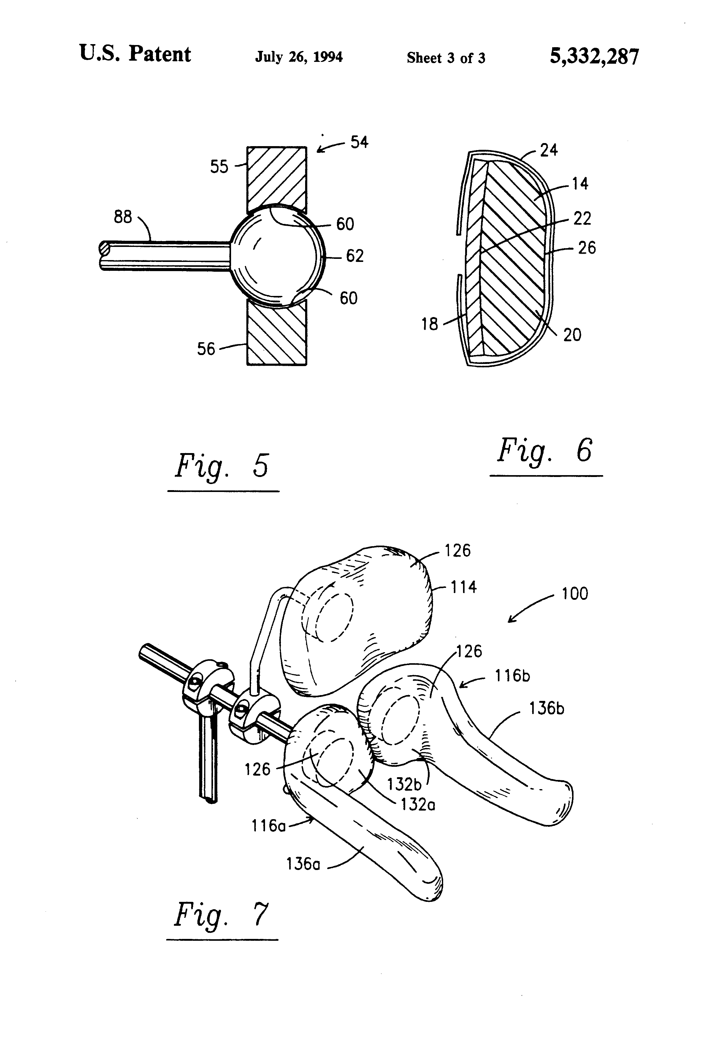 Patent US5332287 - Articulating headrest - Google Patents
